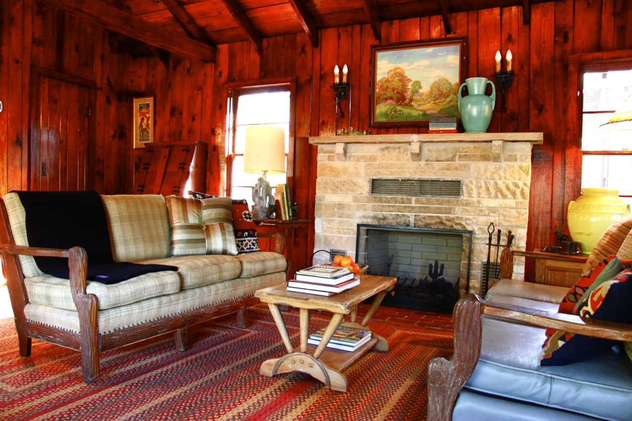 On chilly nights, the big stone fireplace in the living area creates a toasty ski-lodge feel-not something you'd ordinarily expect in Texas!