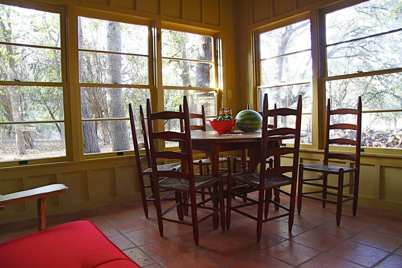 Check out the pretty Hill Country views you'll have from the dining nook!