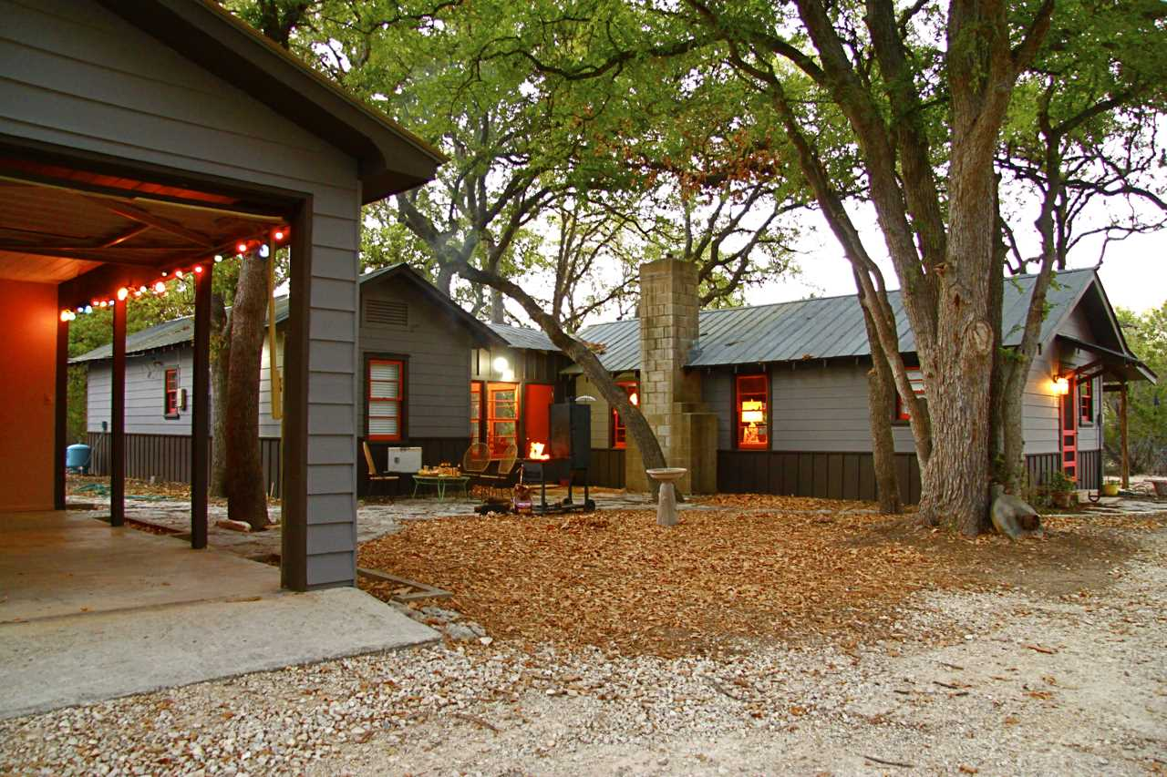 You'll be able to park in a covered carport, and there's a washer and dryer available in a utility shed close by.