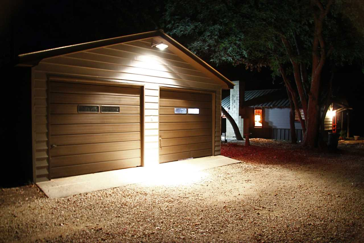 The exterior is nicely lit at night for the safety of your family.