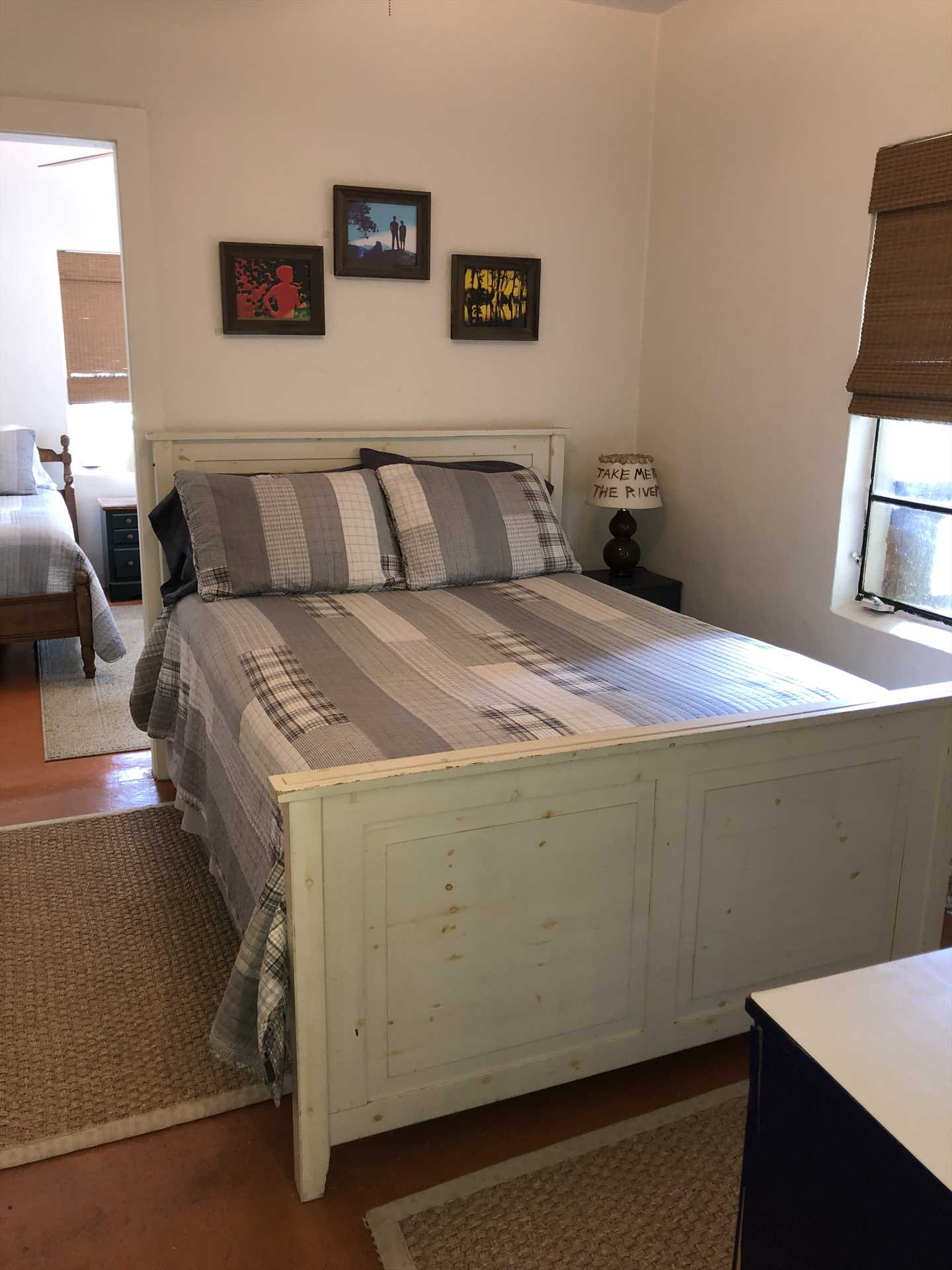 The third bedroom features a double bed and two twins. All bed and bath linens for your entire group are included during your stay.
