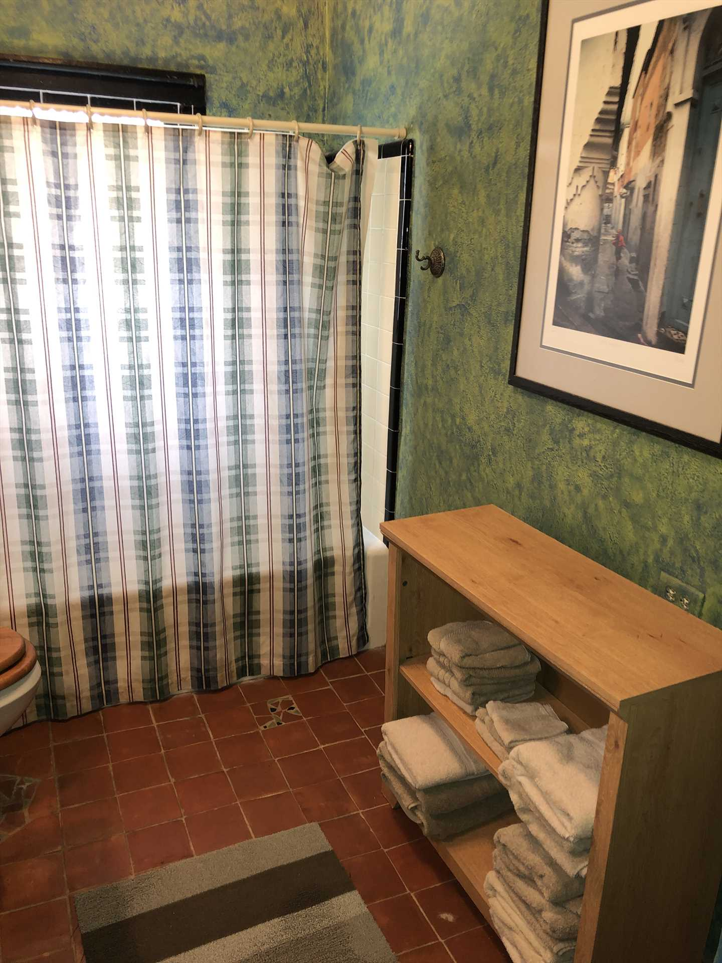 There's a shower and tub combo in the second bathroom, offering an option for those who'd like a good, relaxing soak.