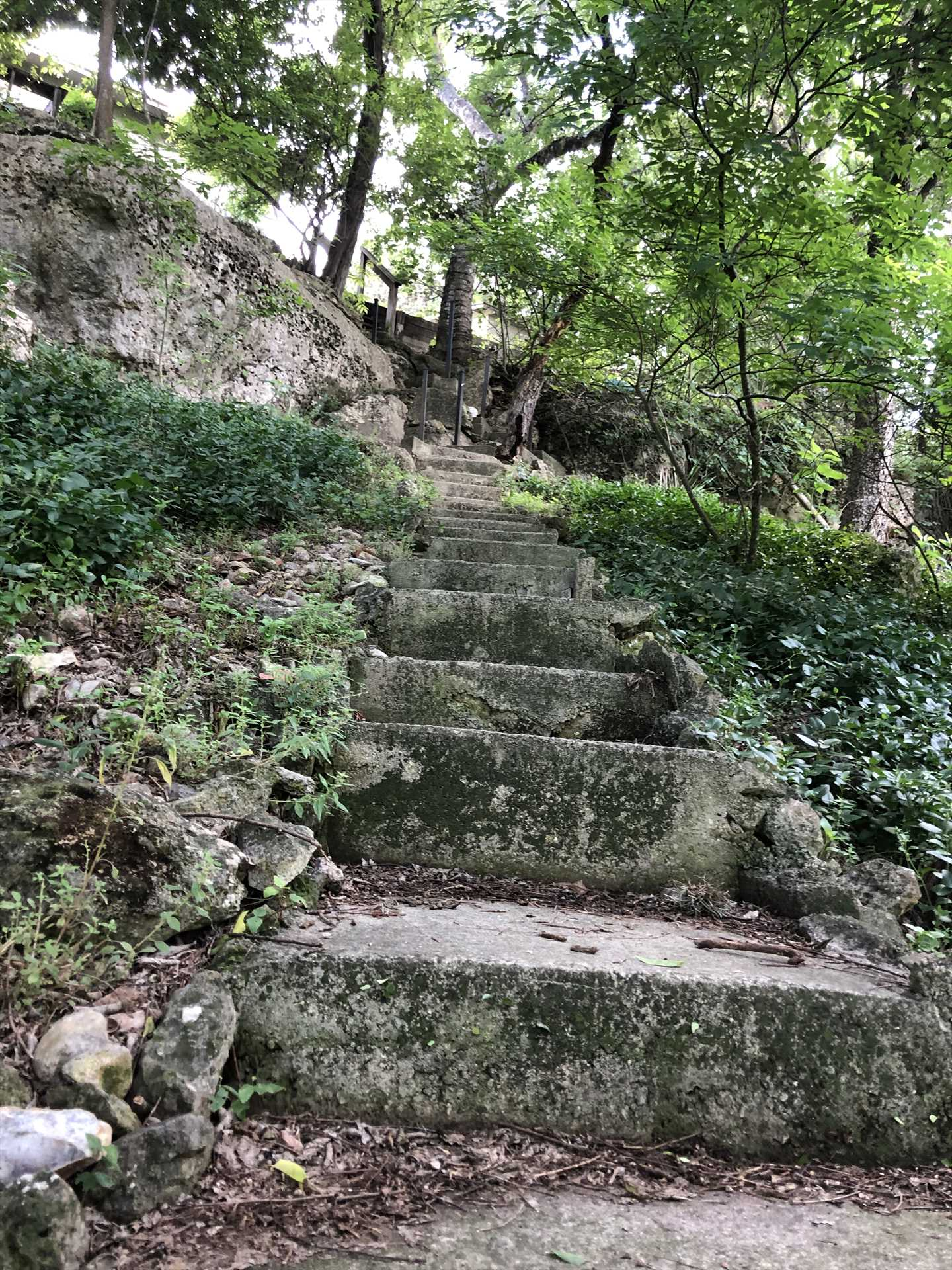 Your adventure on the Medina River begins by descending this scenic staircase.
