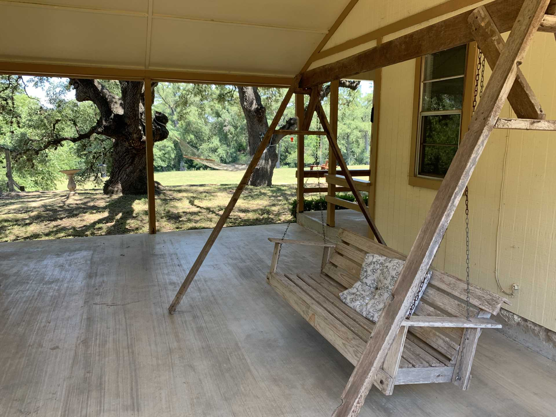 Your outdoor relaxation is assured at Lambert Park, with both a hammock and an intimate porch swing!