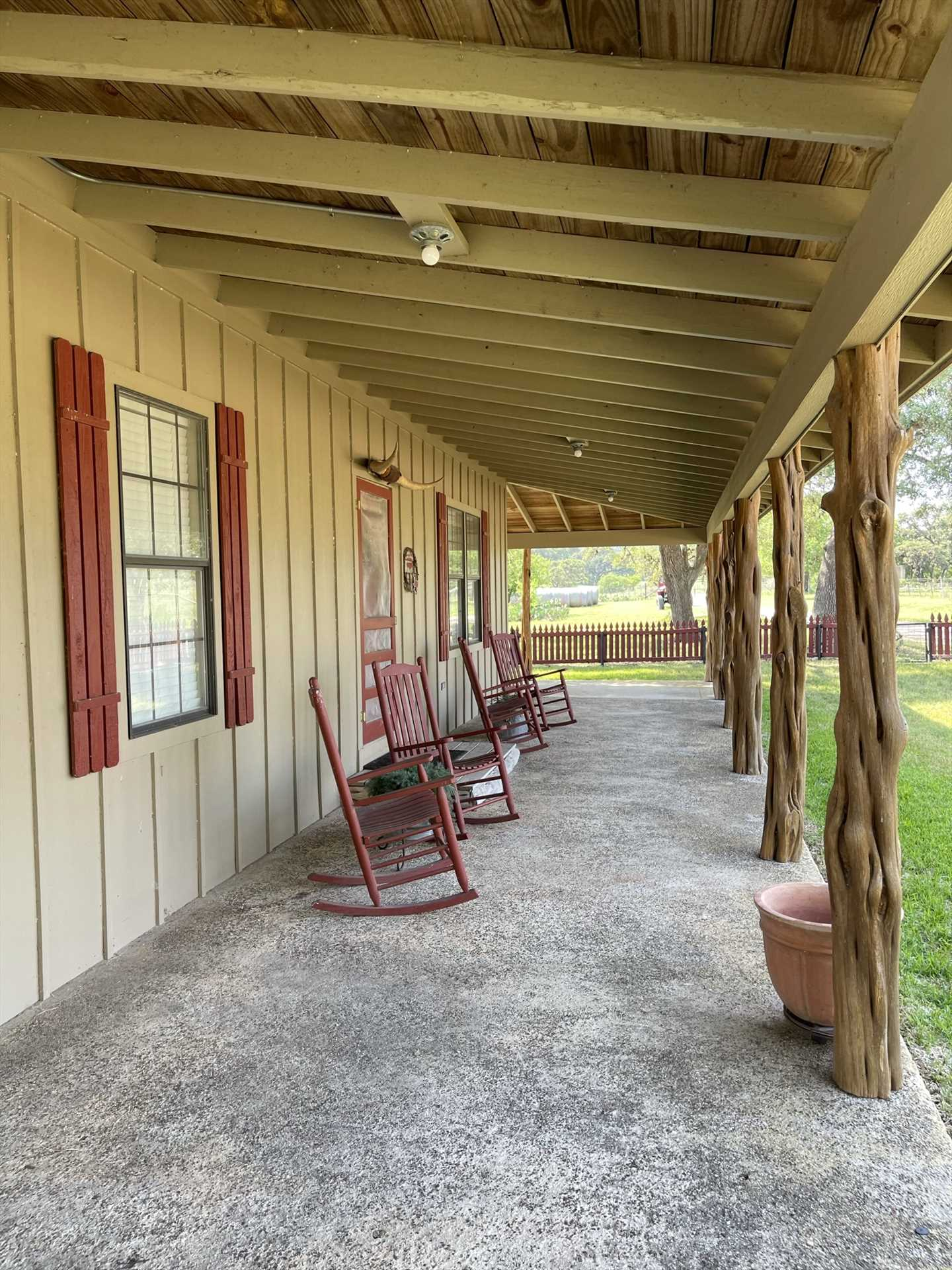 Whether it's a sip of morning coffee or a glass of Texas wine, it all goes down better in the fresh country air!