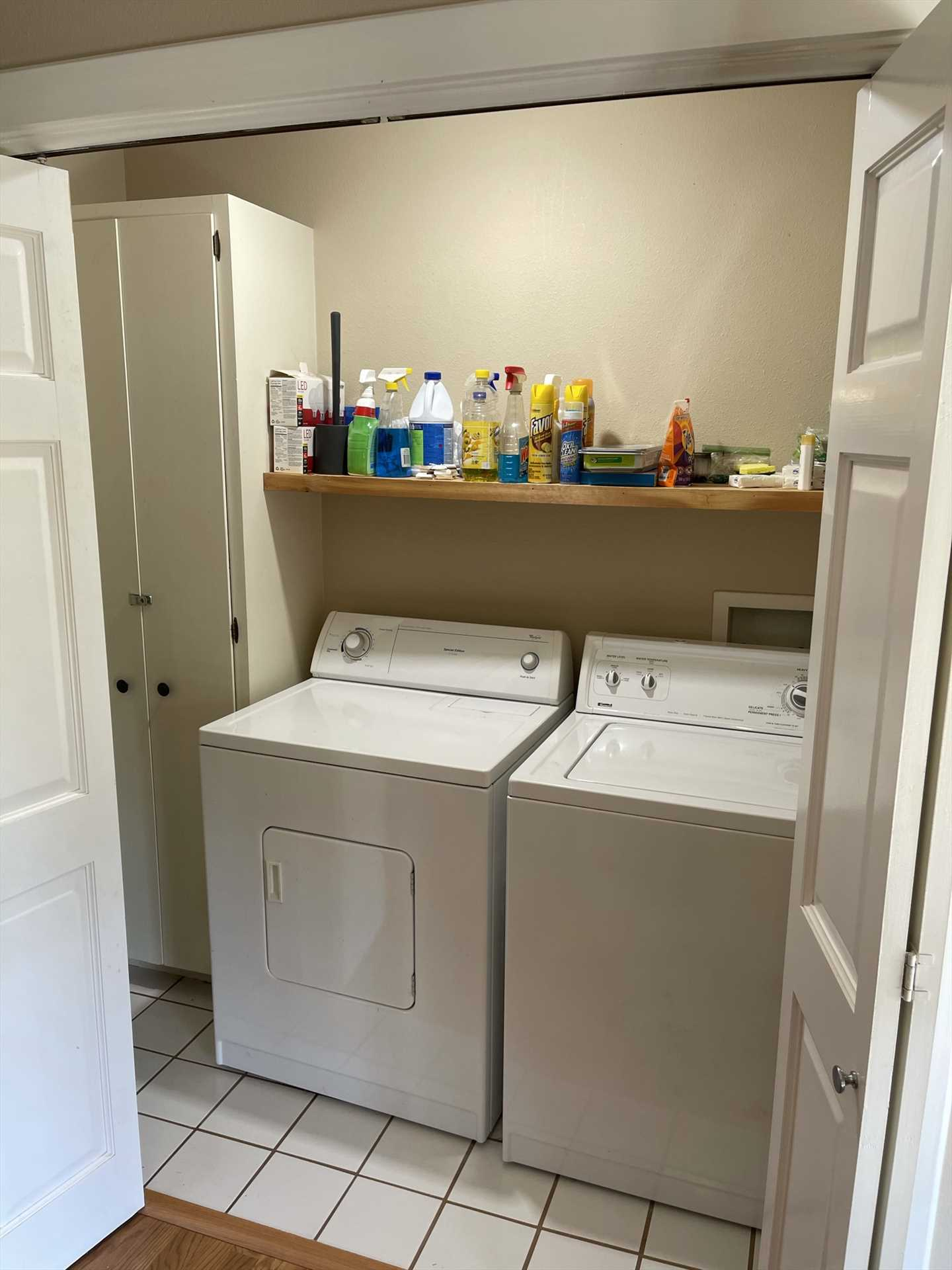 Keep up with your laundry in this handy utility room, it'll save you the headache of dealing with it after your stay!