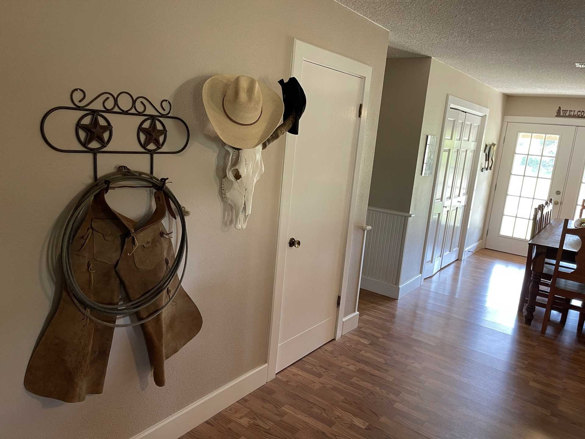 Fun cowboy touches give personality to Potato Flats. After all, you ARE in Texas!