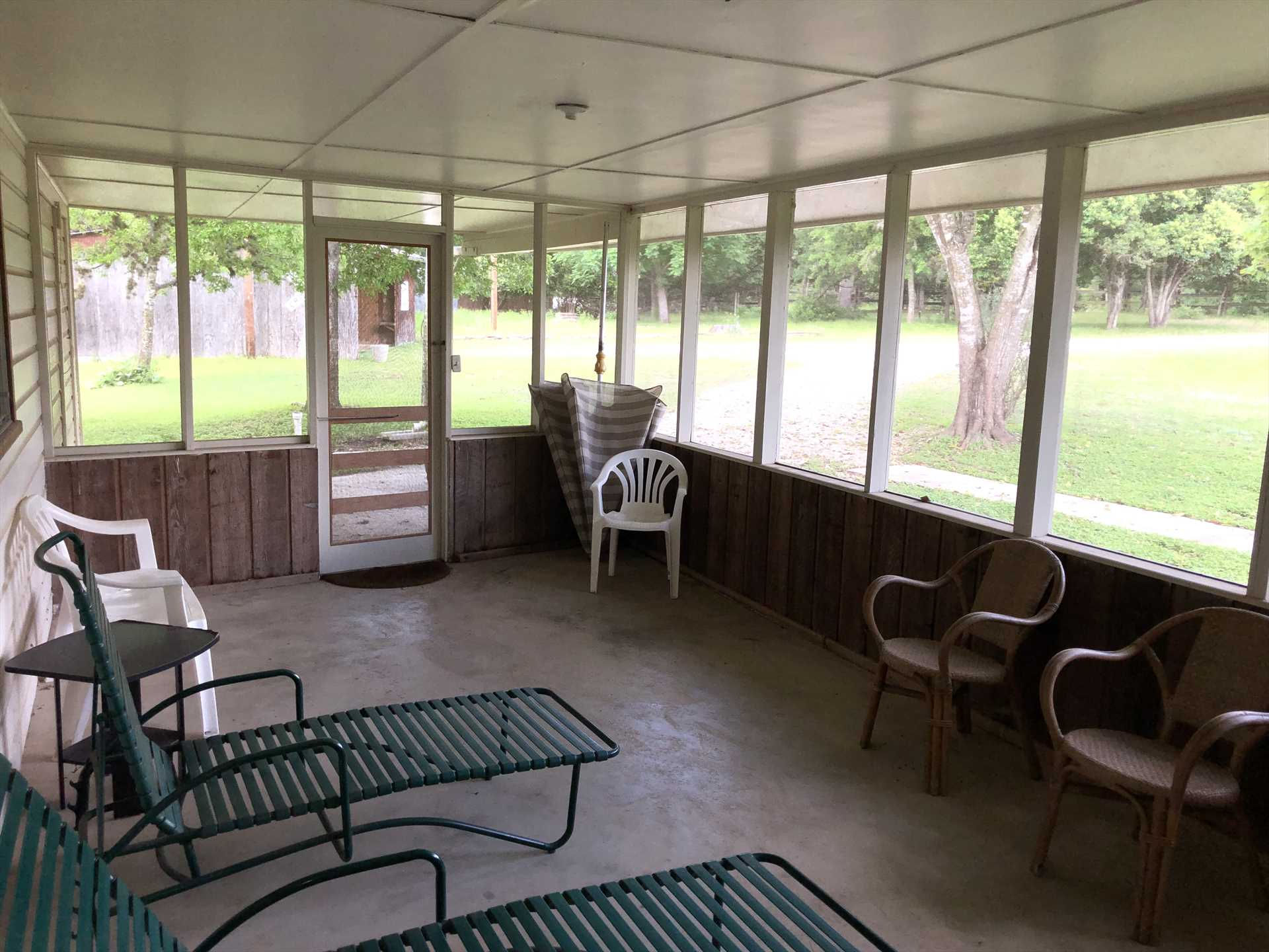 The screened patio invites all the views and breezes in that you want, but keeps the bugs you don't want at bay!