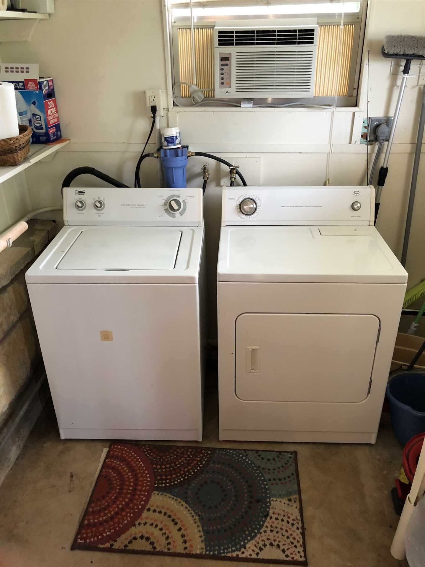 Take home river memories, but not mildewed clothing! The washer and dryer here will keep everything clean and fresh.
