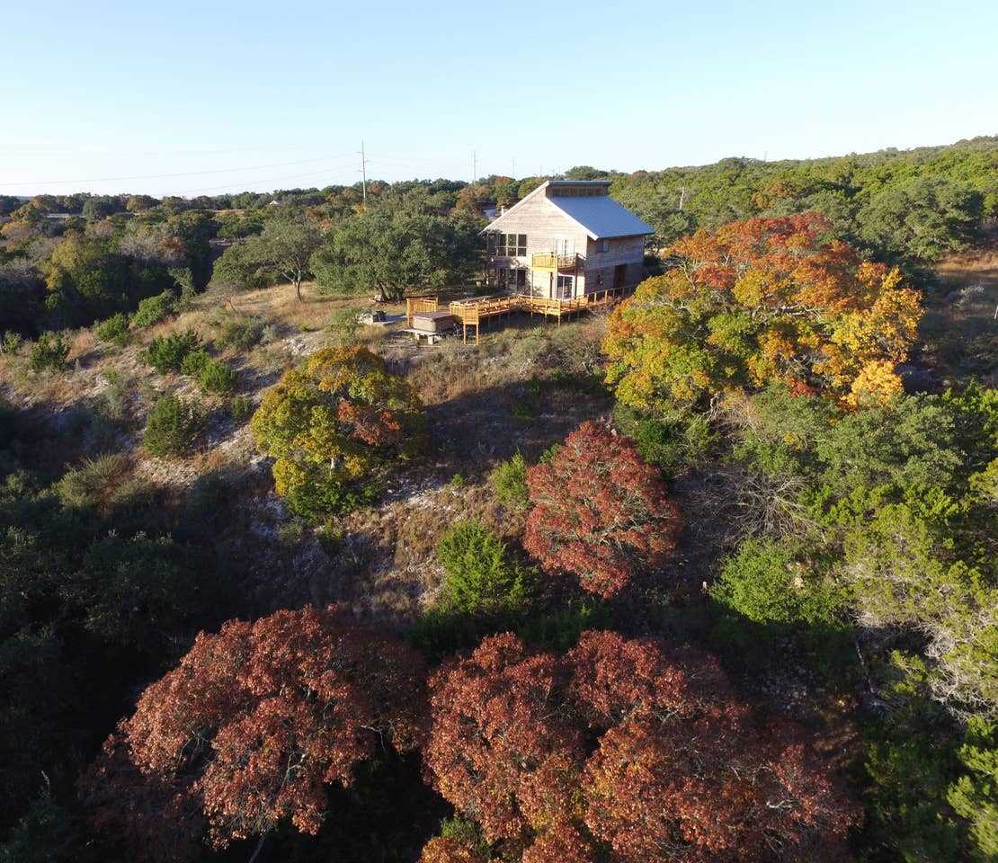 Camera-ready views surround Rockin' B Ranch, and amazing Hill Country scenery is visible from your elevated perch at the Bluff House!