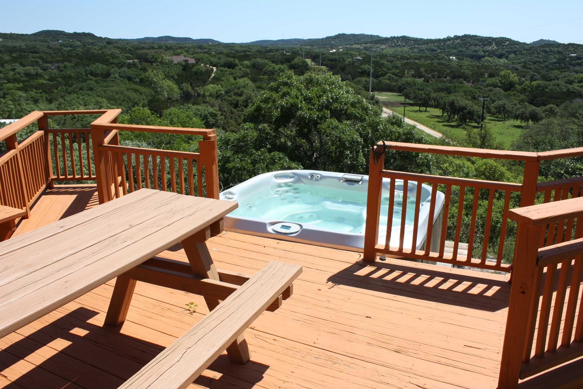 Okay, granted, there are other rentals that have hot tubs. But do theirs have THAT view?