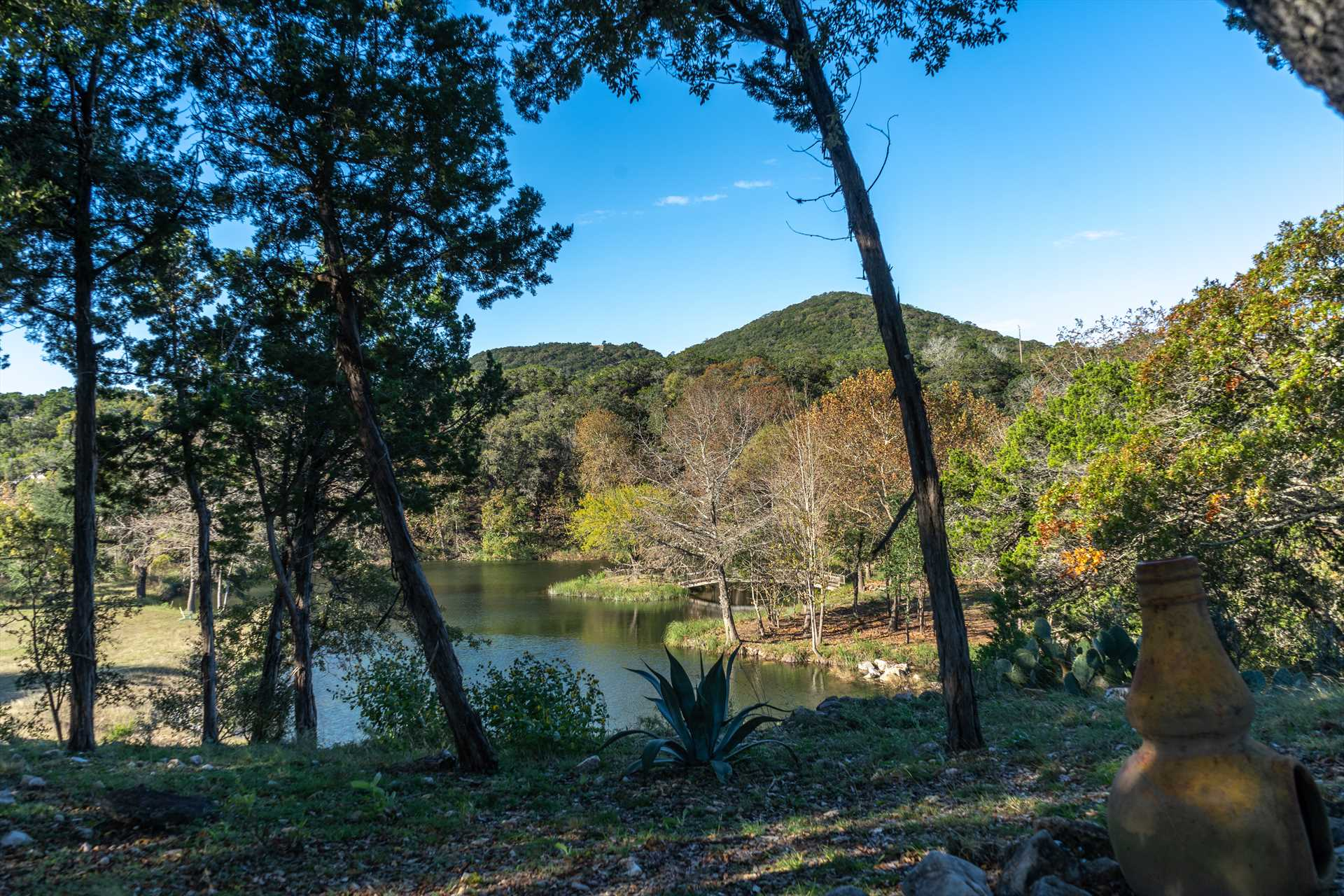 You'll have shared access to the lake on the property, but there's plenty of fun and natural beauty to go around!