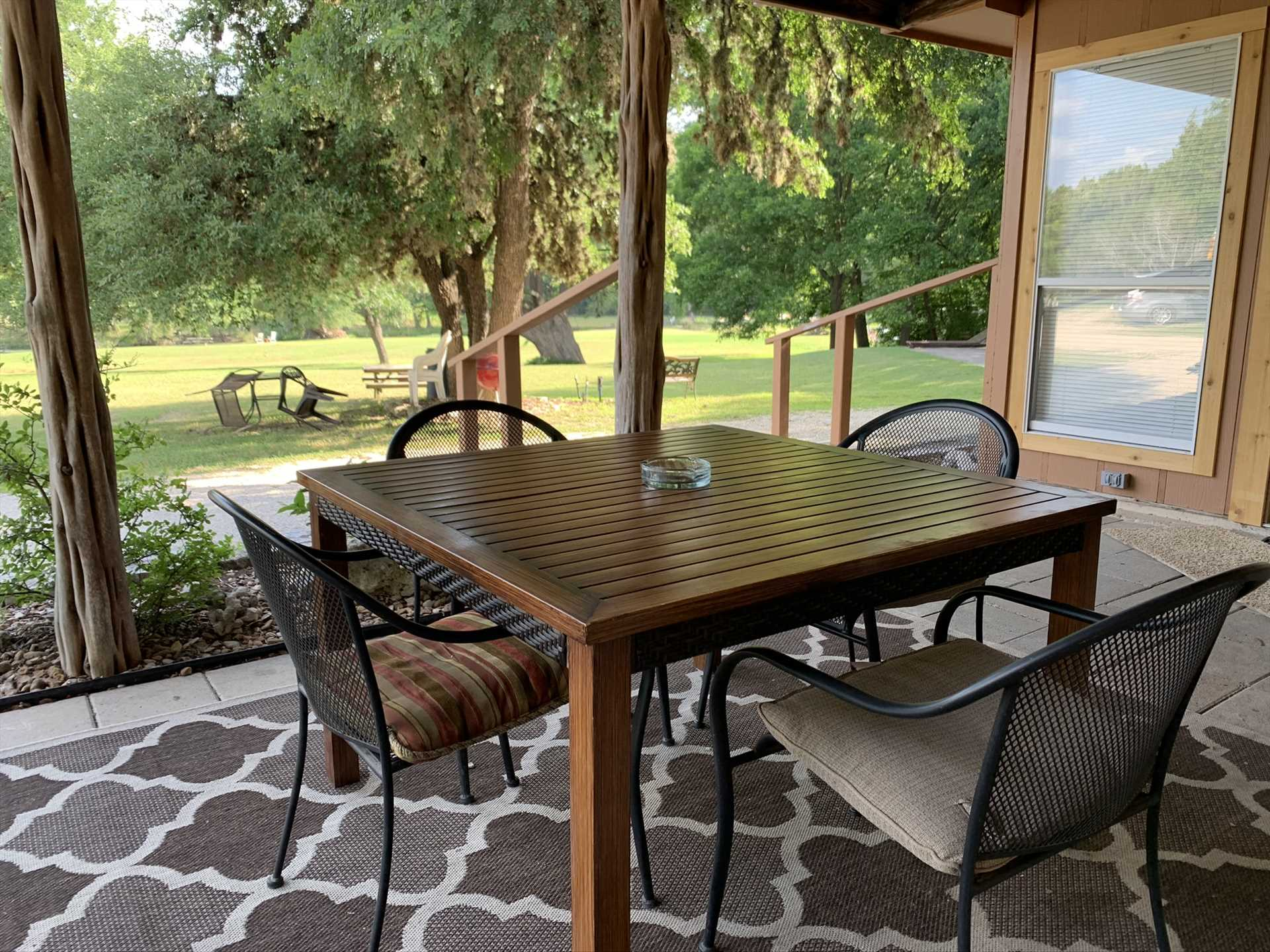 Greet a new day, or savor an evening breeze, in your peaceful and private outdoor space.