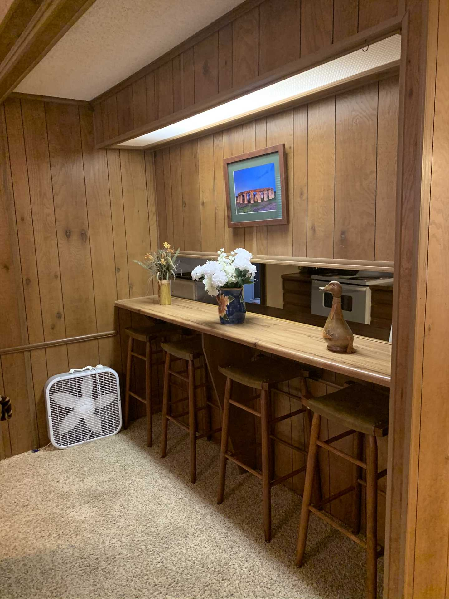 Catch up with family and friends in the unique bar area!