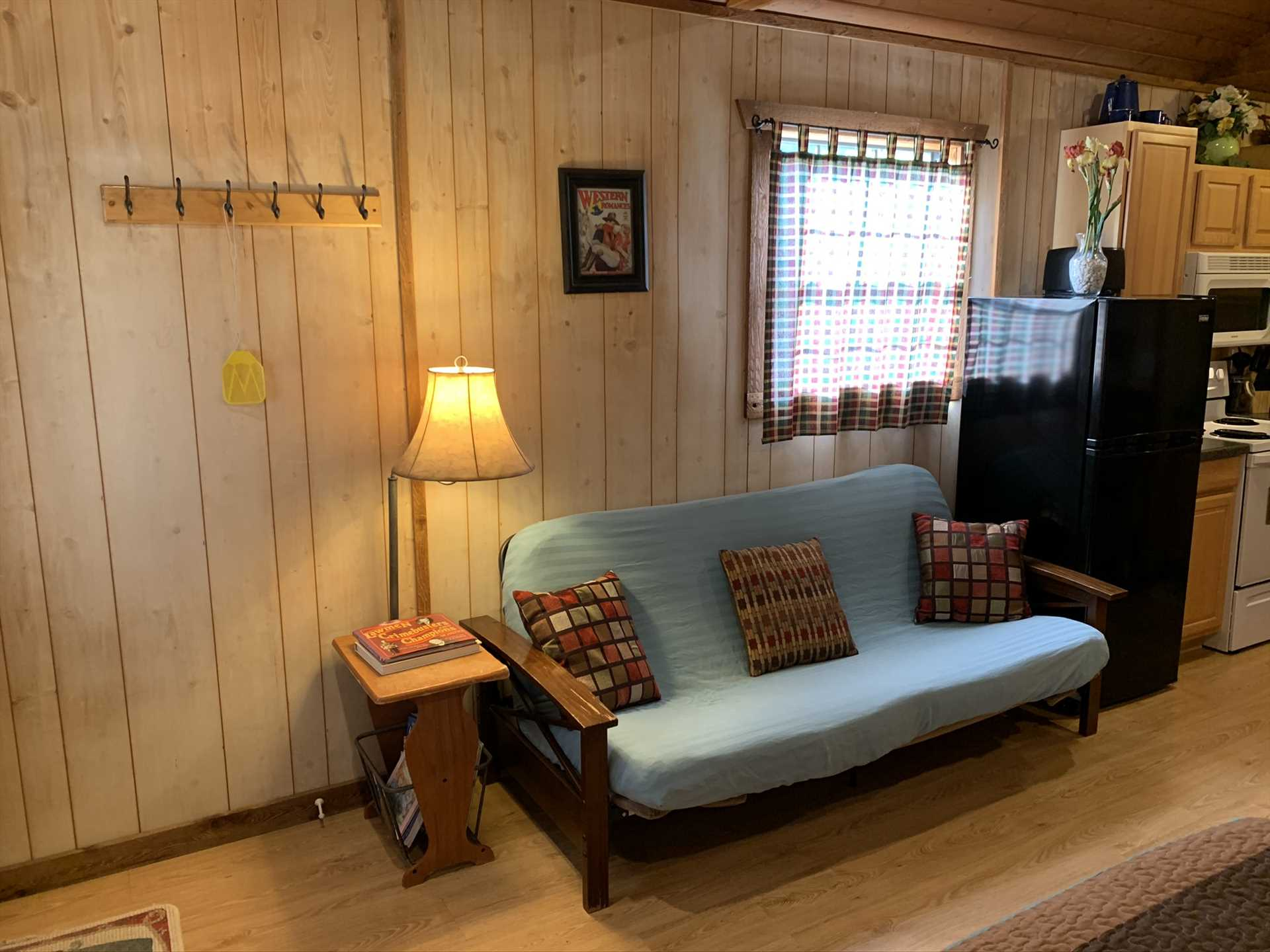 New AC and heat box units keep the cabin just right, and you'll have a satellite TV and Wifi Internet service, too!