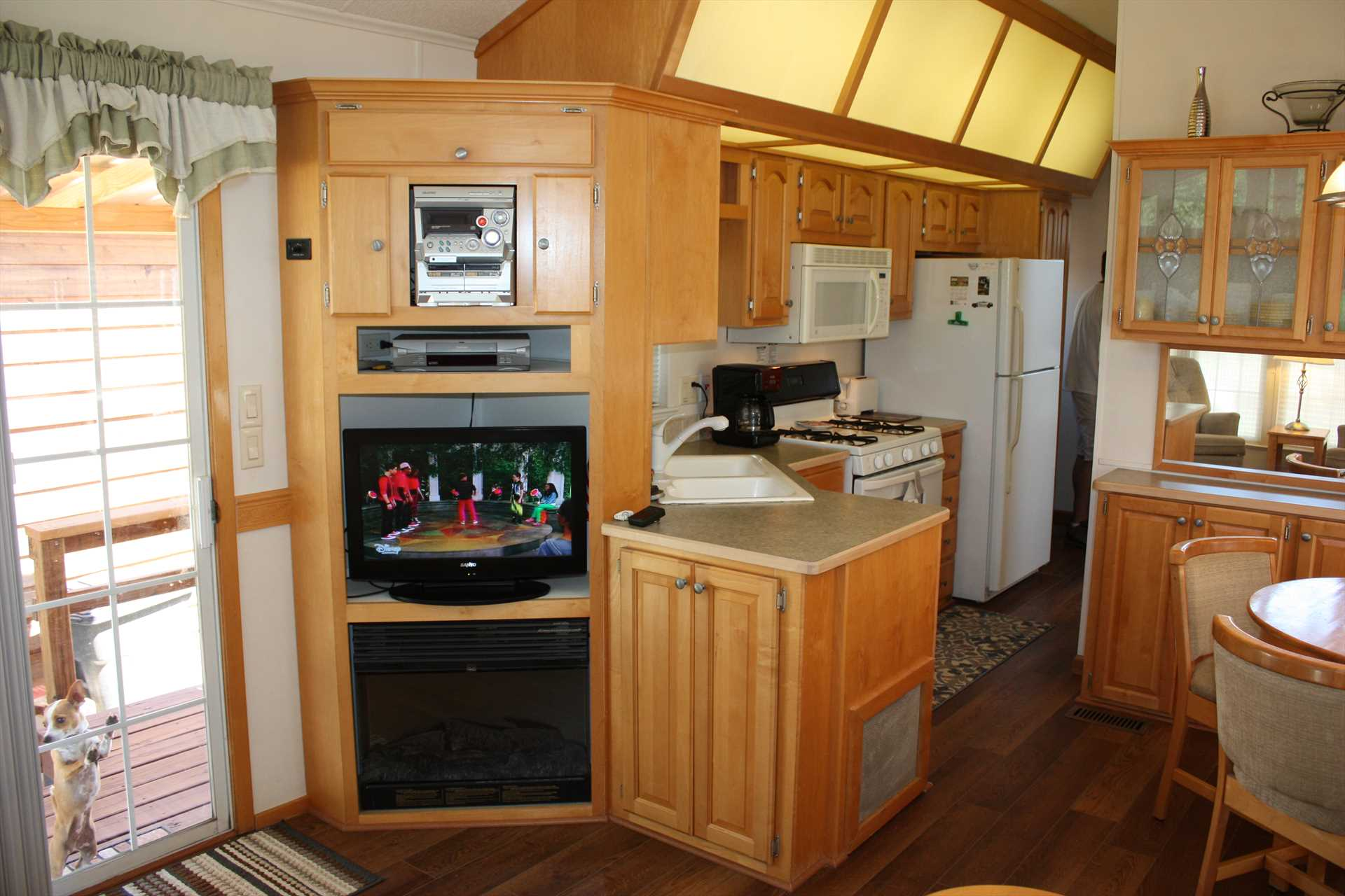 Satellite TV, Wifi, great cell service, and central air and heat will make your visit here both comfortable and entertaining. The living area also includes a sleeper sofa for two additional guests!