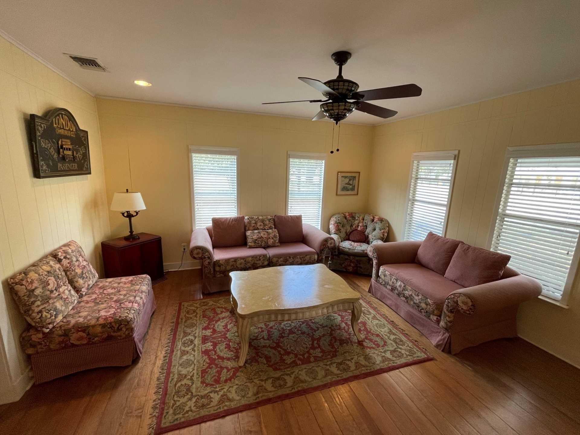 Granny keeps her house neat as a pin, and the living area provides a warm and welcoming family space.