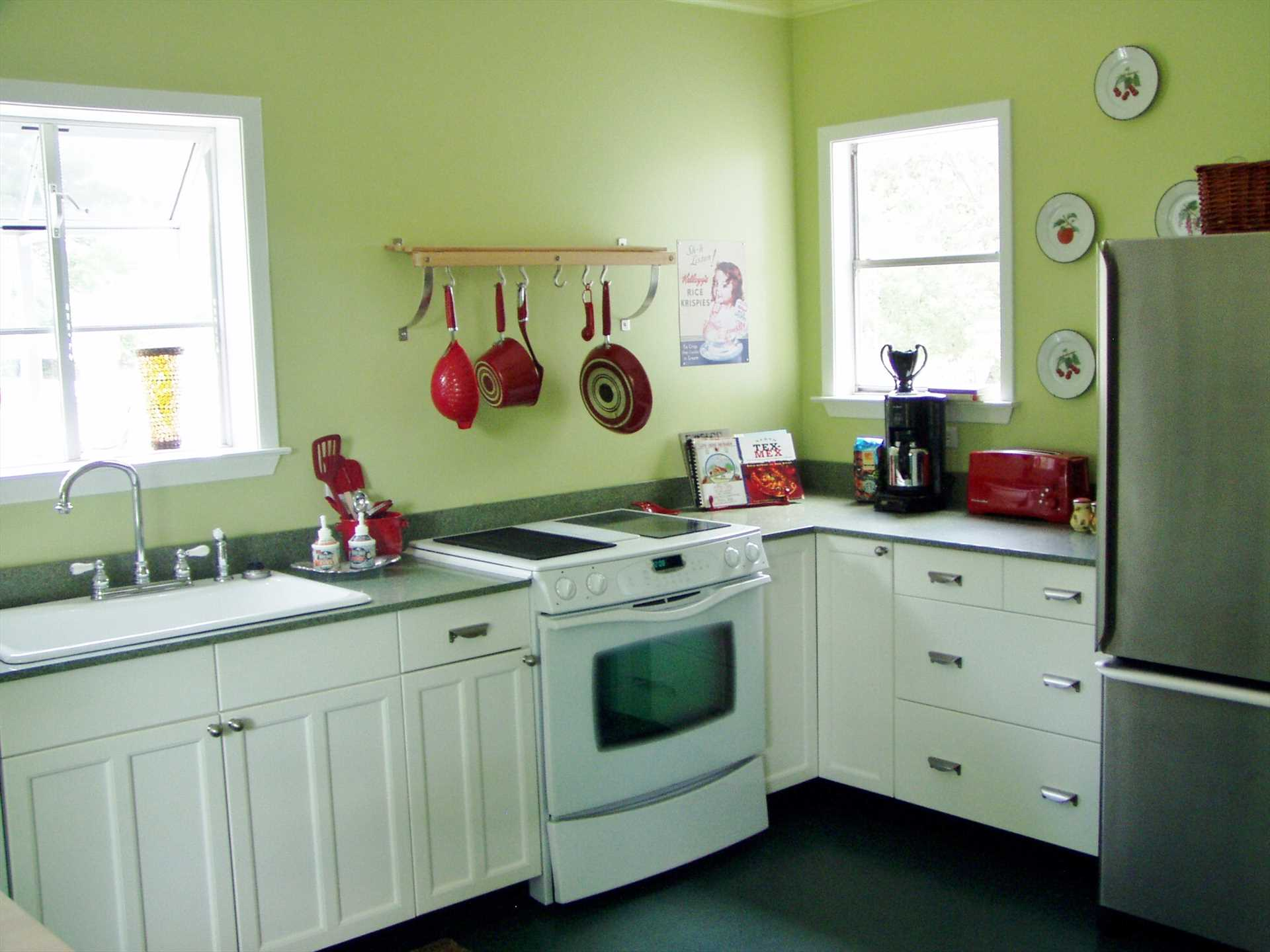 We couldn't call it Granny's place if it didn't have a full country kitchen!