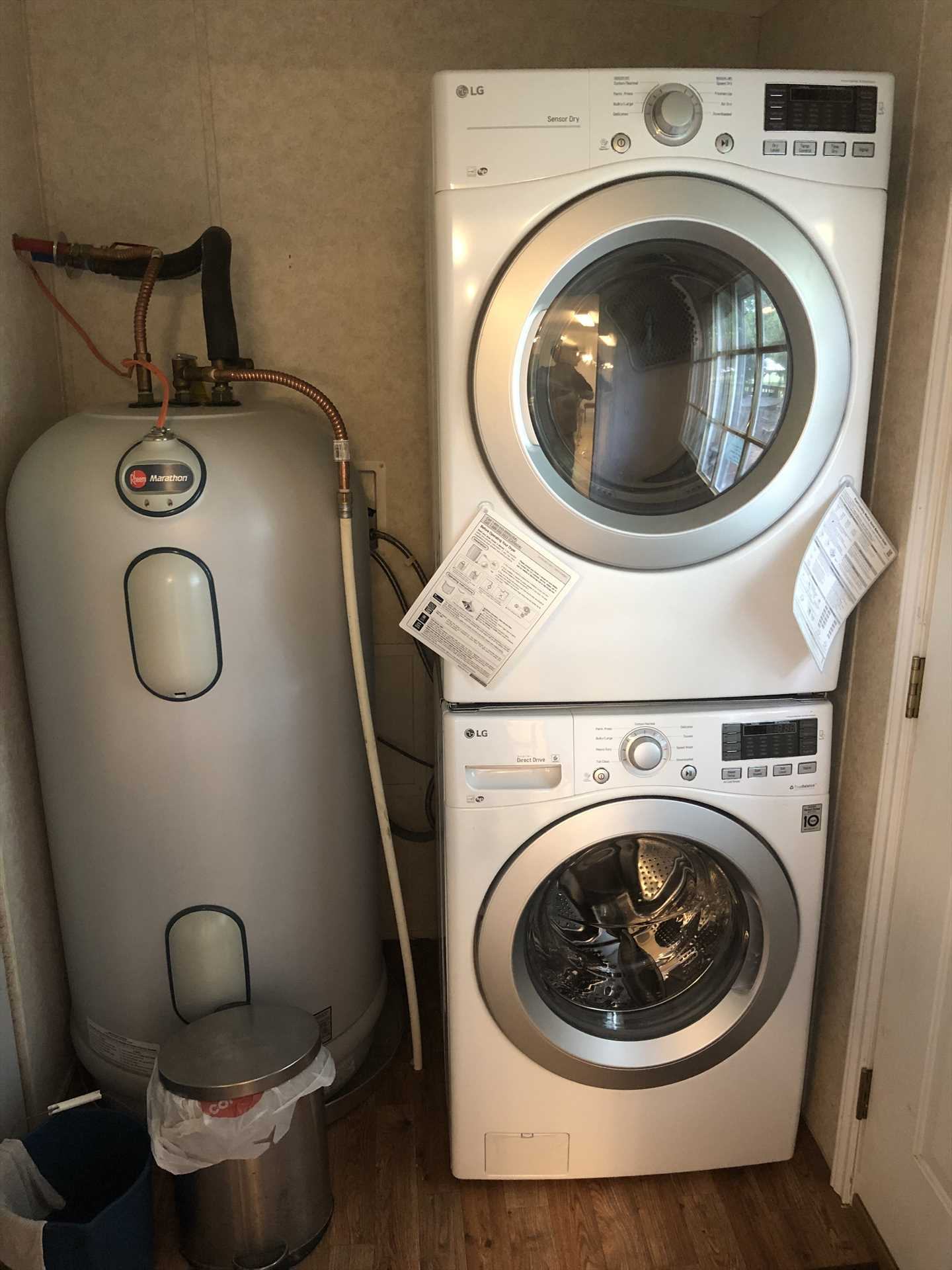Drive away the post-vacation dirty laundry blues with this handy washer and dryer combo!