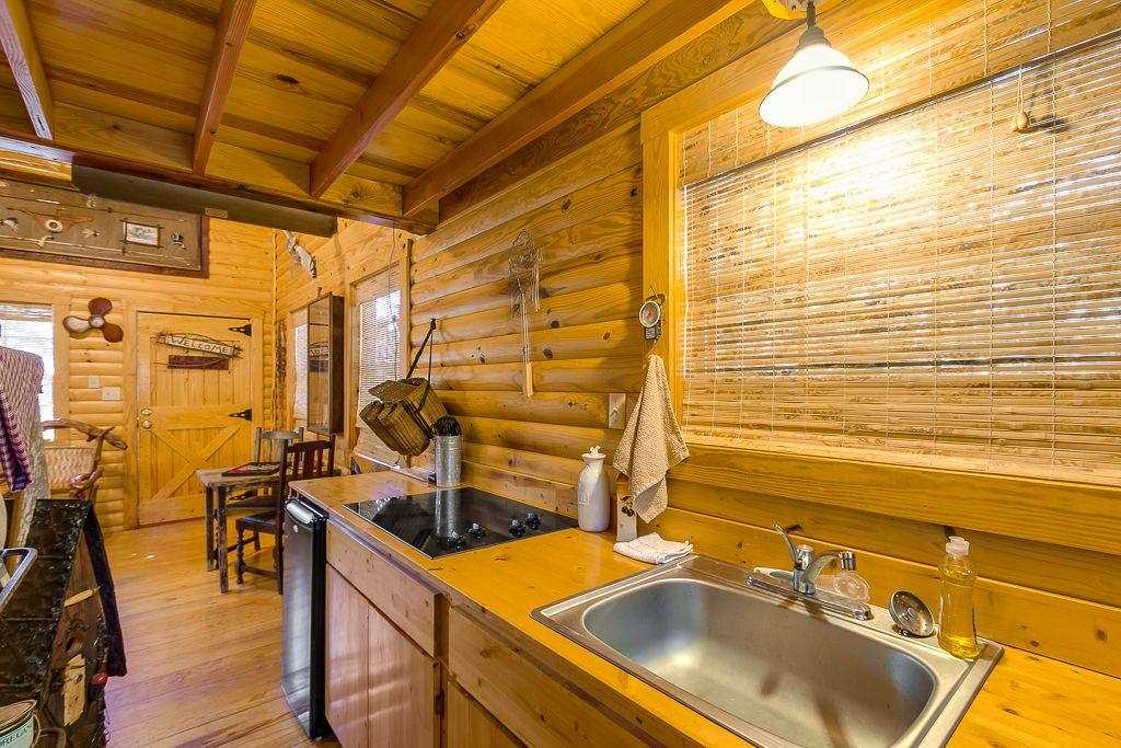 Surround yourself in the Fishing Cabin's rustic yet clean atmosphere-it's a perfect place to relax and recharge.