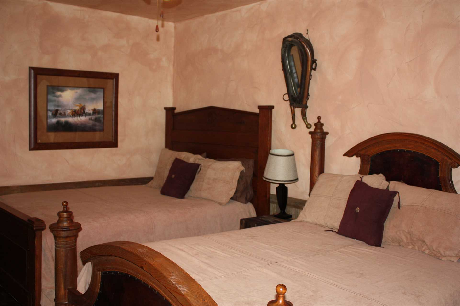 Slumber in feather-soft comfort on big, comfortable beds!