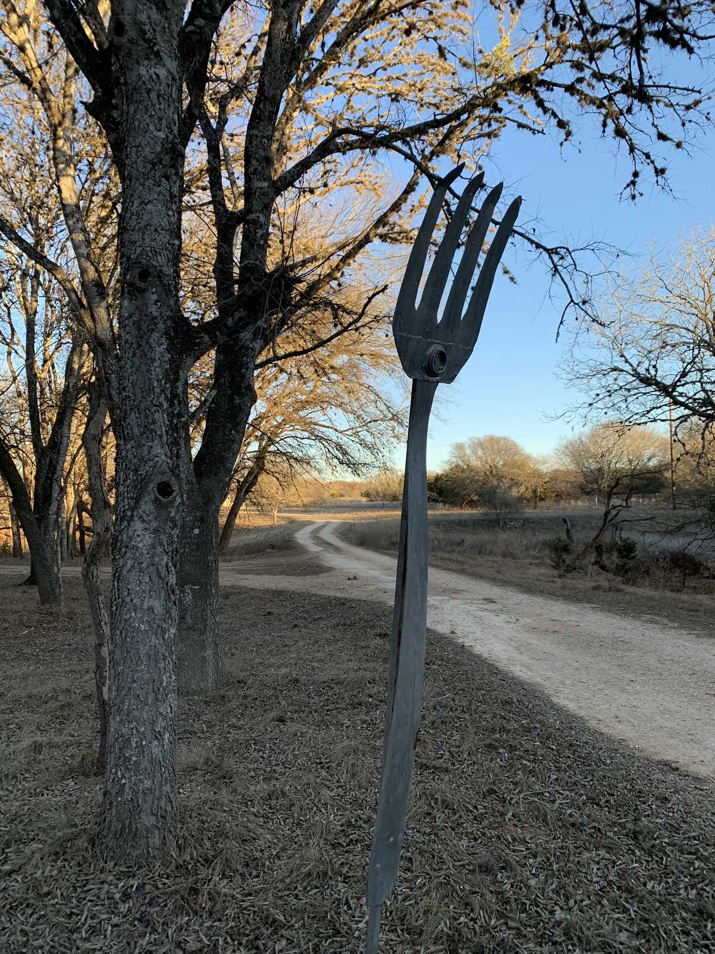 What do you do when you encounter a fork in the road? Well, luckily, this one's off to the side!