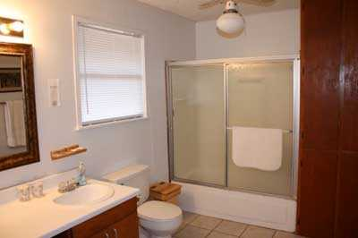 Two full baths with shower and tub combos in each make cleaning up a breeze!