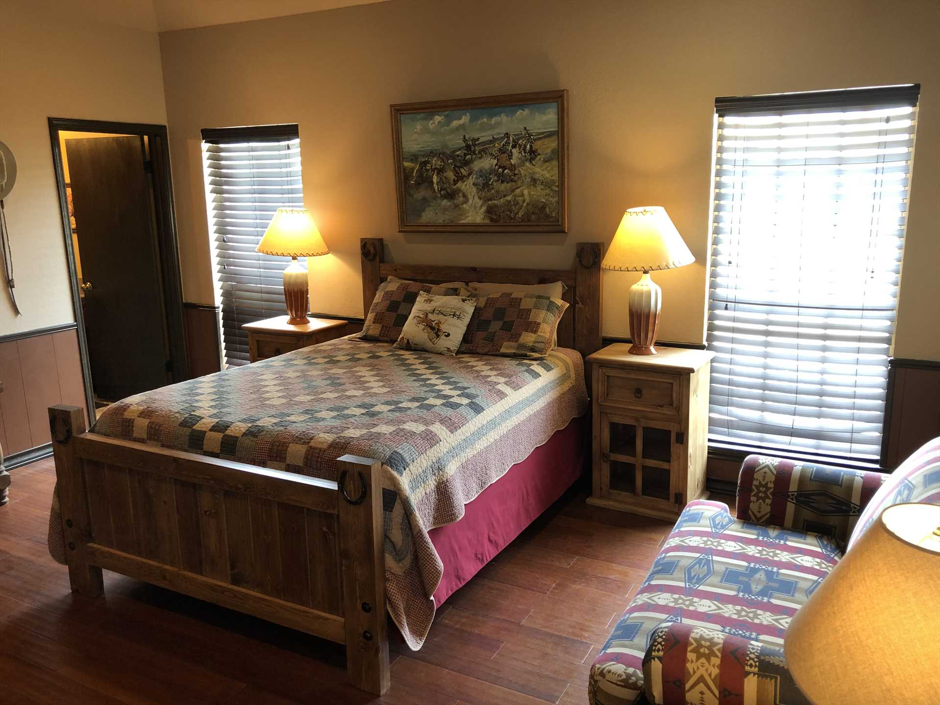 Nighttime comfort on queen and twin beds, with comfy and clean bed and bath linens provided.