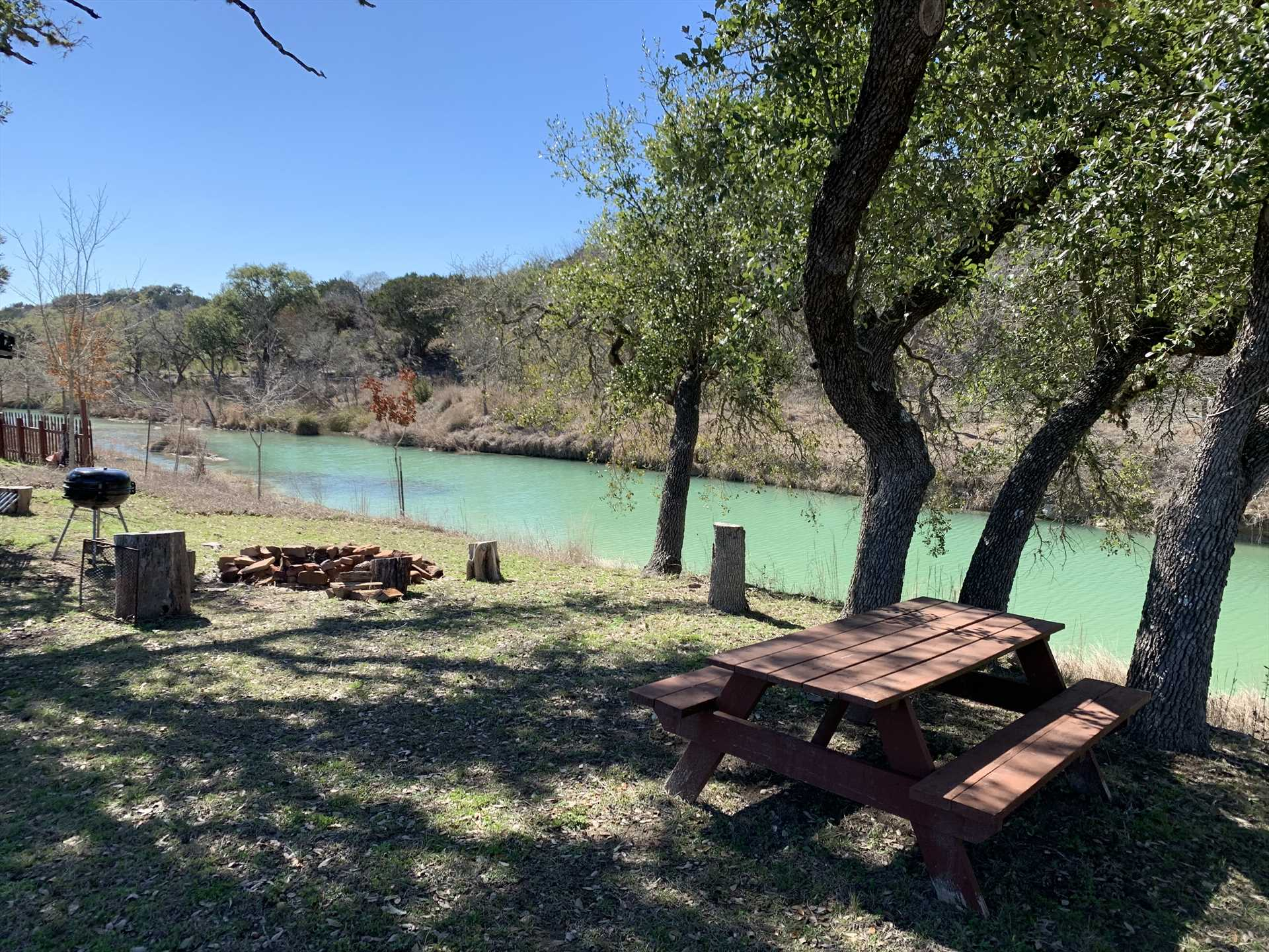Nothing satisfies like a grilled meal by the creekside in the fresh Hill Country air!
