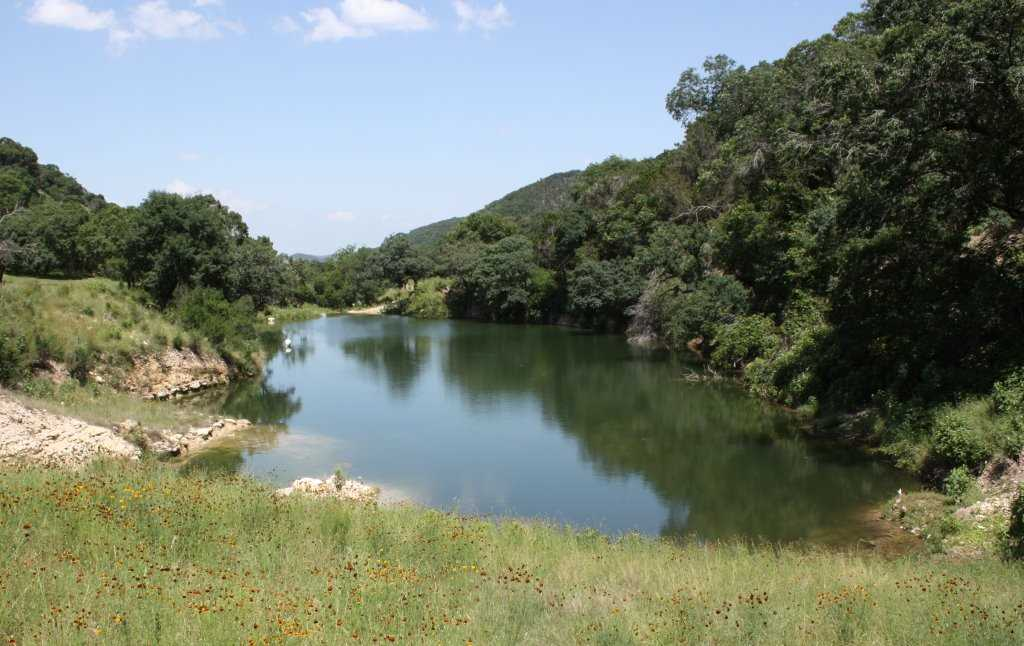 When the creek's up, the fishing's good! Anglers are free to cast a line here for catch-and-release fishing.