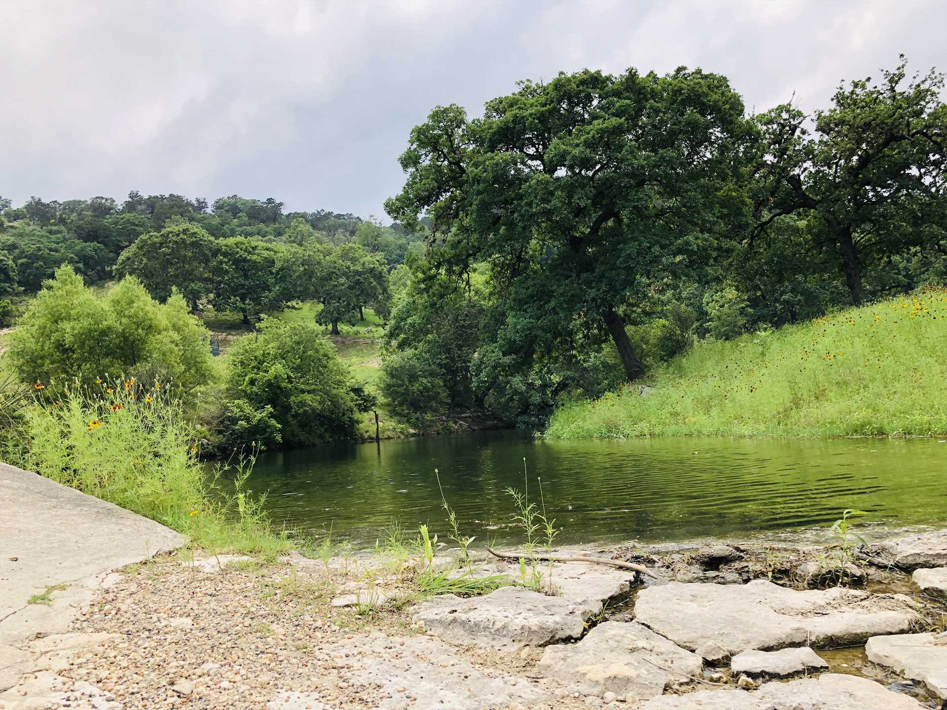 If fishing's your passion, please check with us before booking, since the creek here is seasonal.