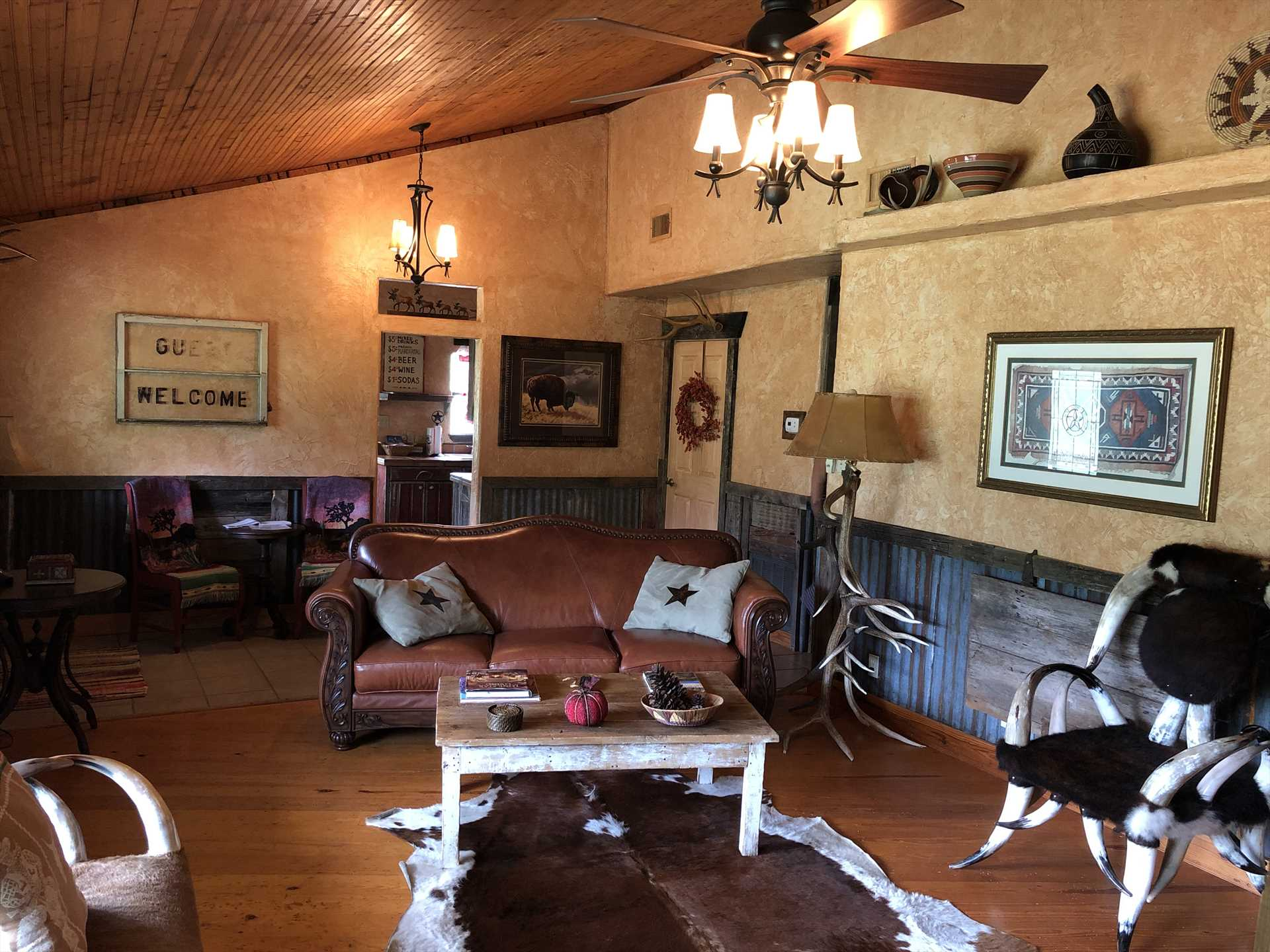 Climate-controlled, with beautiful woodwork and country decor...picture your crew in all this space!