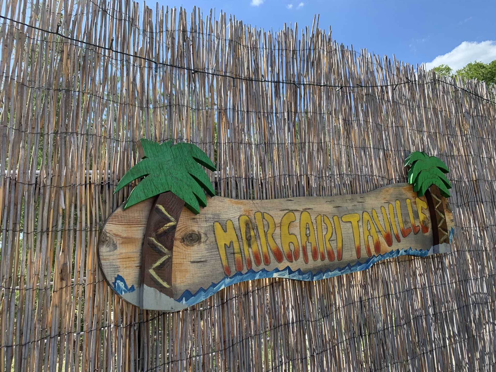 Tasteful tiki touches in the Texas Hill Country!