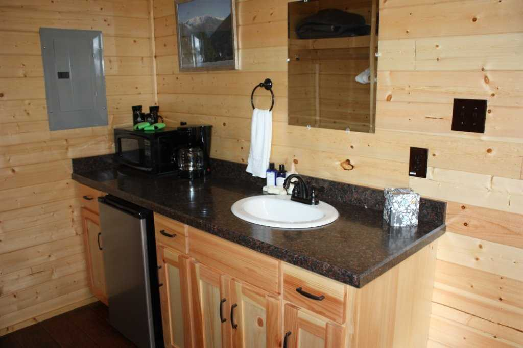Complimentary coffee comes with your cozy kitchenette!