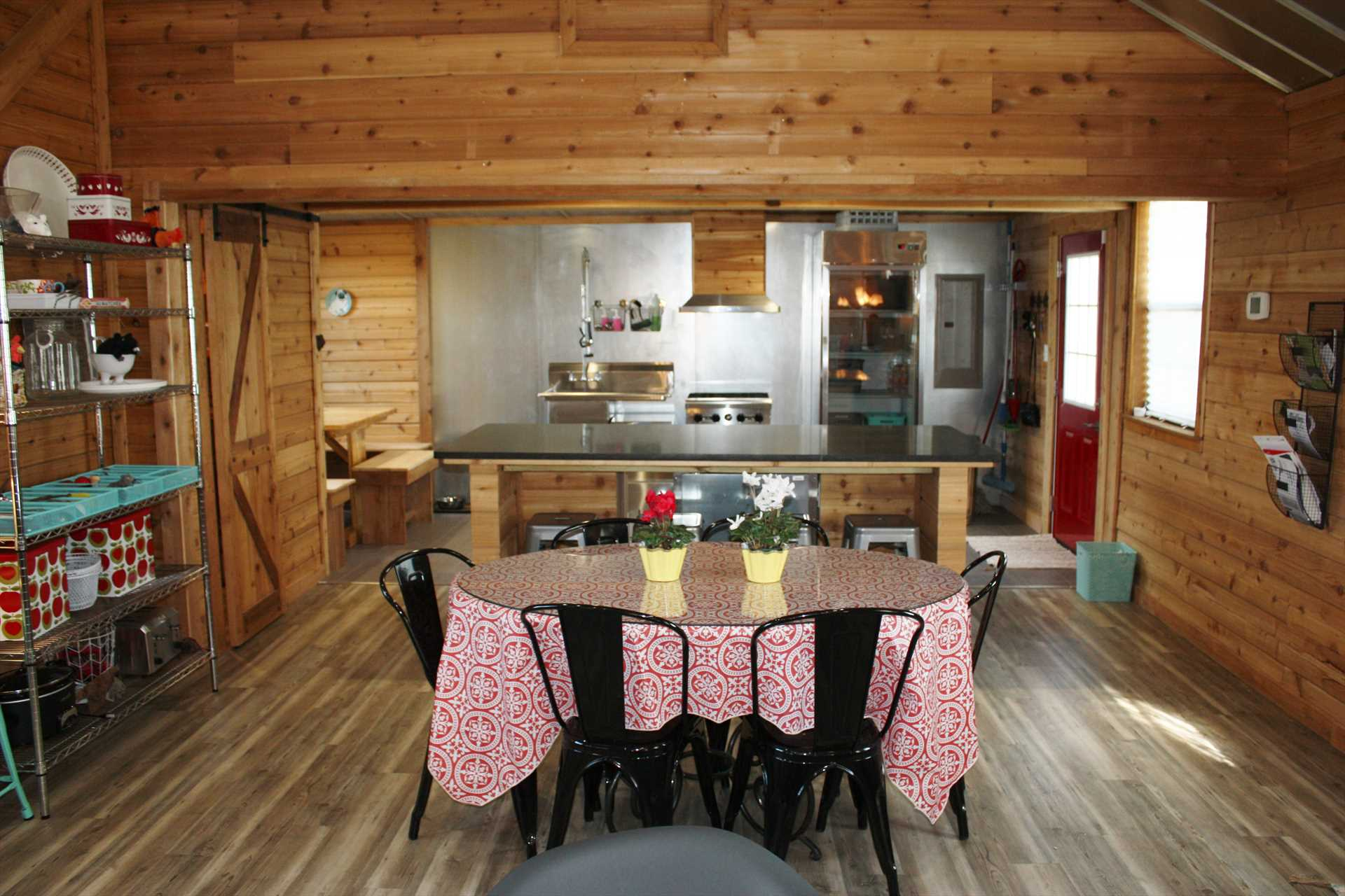 With the dining table, bar seating, and breakfast nook, there's space to dig in for up to 13 guests.