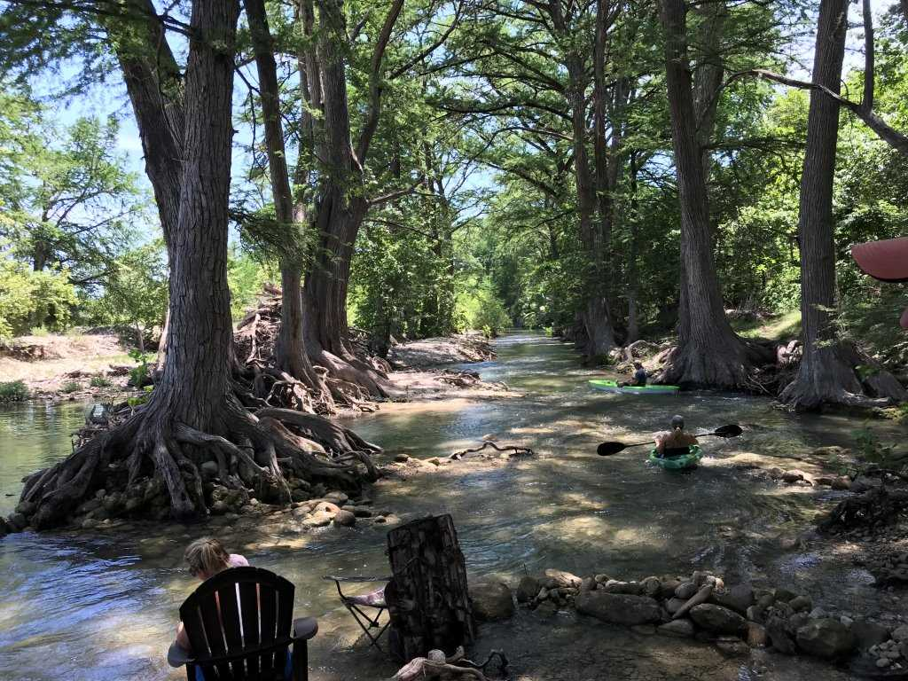 You'll have private access to the Medina River, for swimming, tubing, and fishing! River depth is seasonal, so please check with us before your visit.