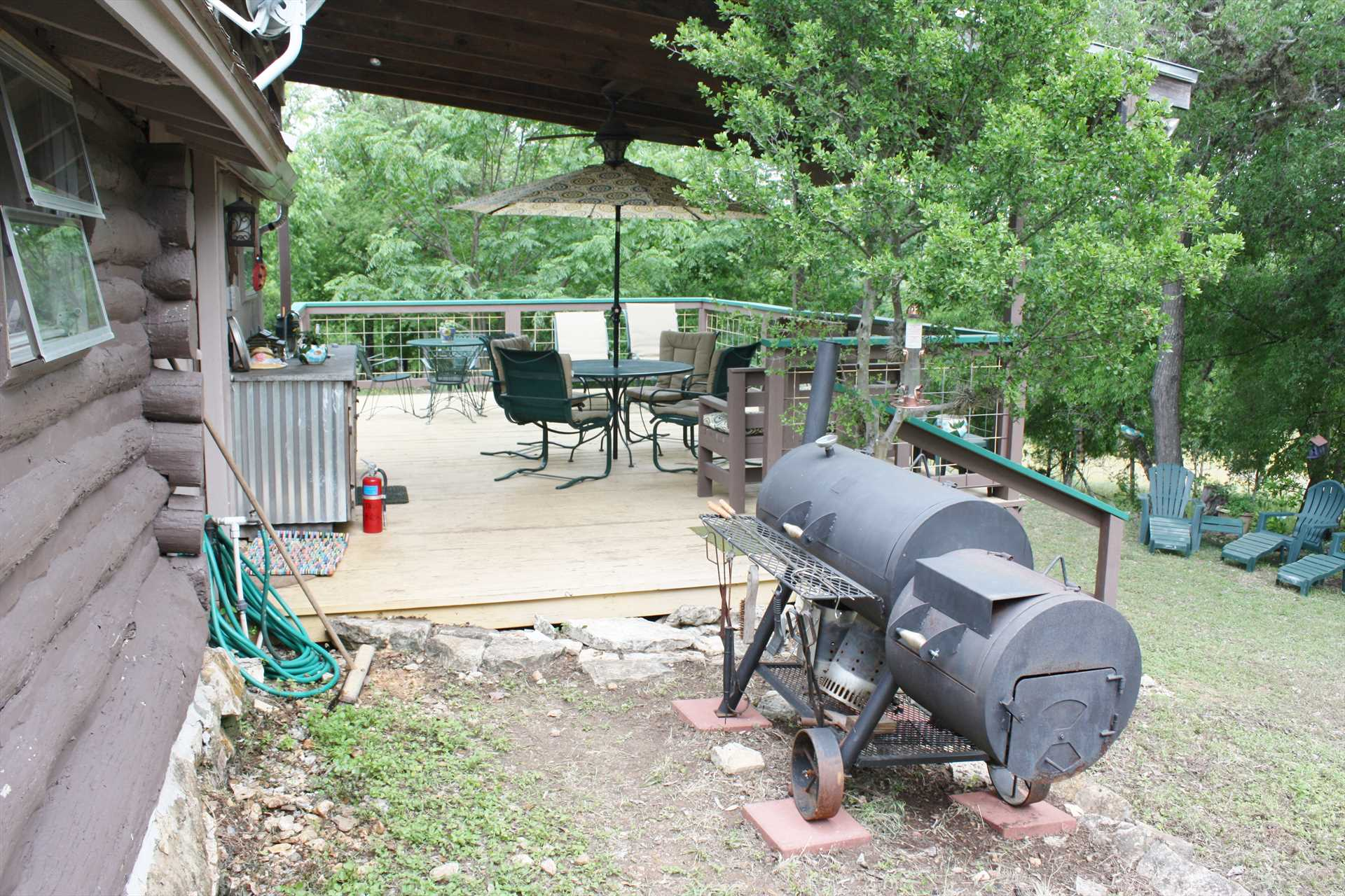 The combo charcoal grill and smoker is just the place for the BBQ kings and queens in your group to show off!