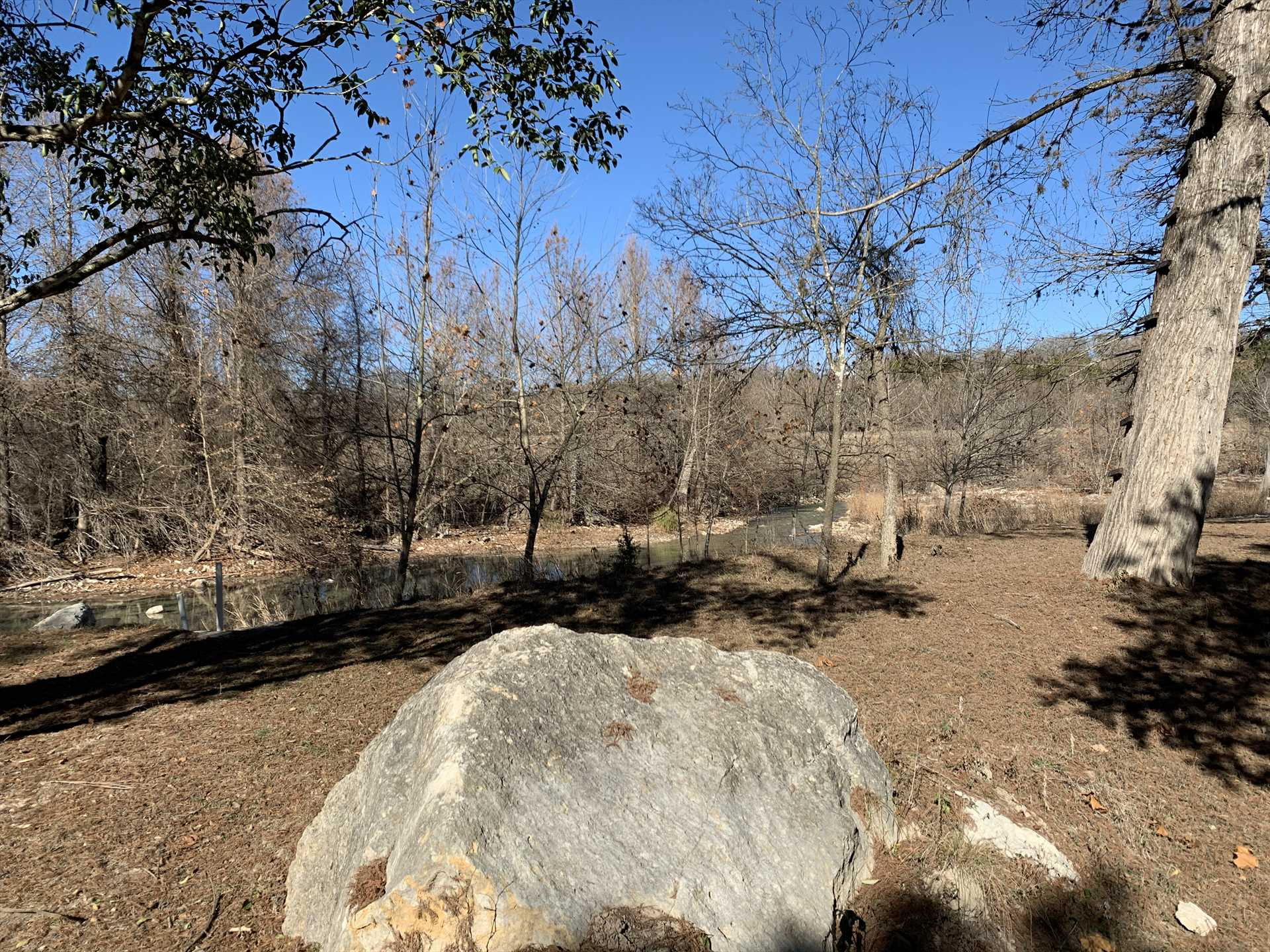 Wonderful Hill Country views in every direction. Very large boulder provided free of charge.  :)