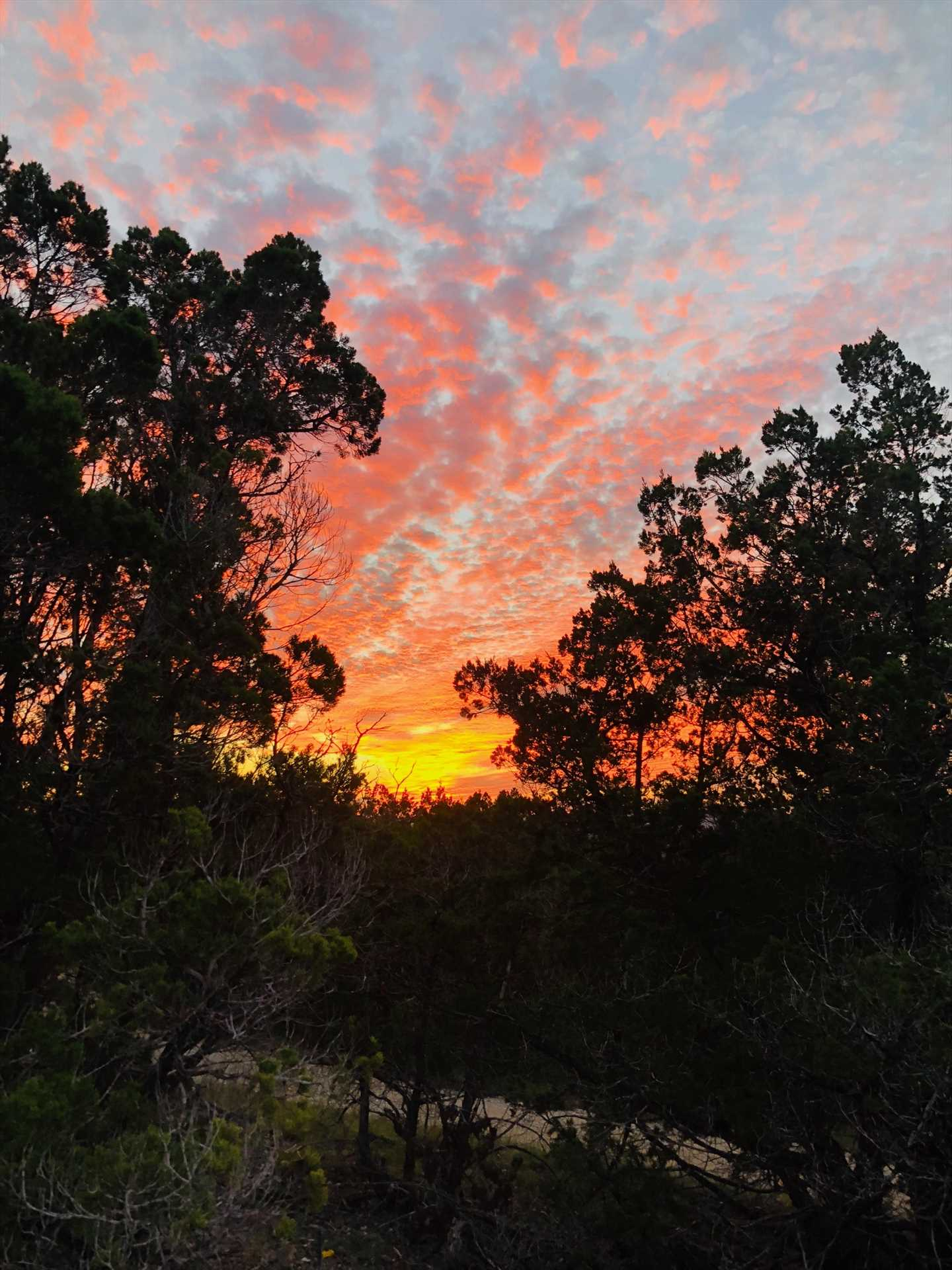 Mother Nature uses every brilliant color in her palette for the bold and bright sunsets here.