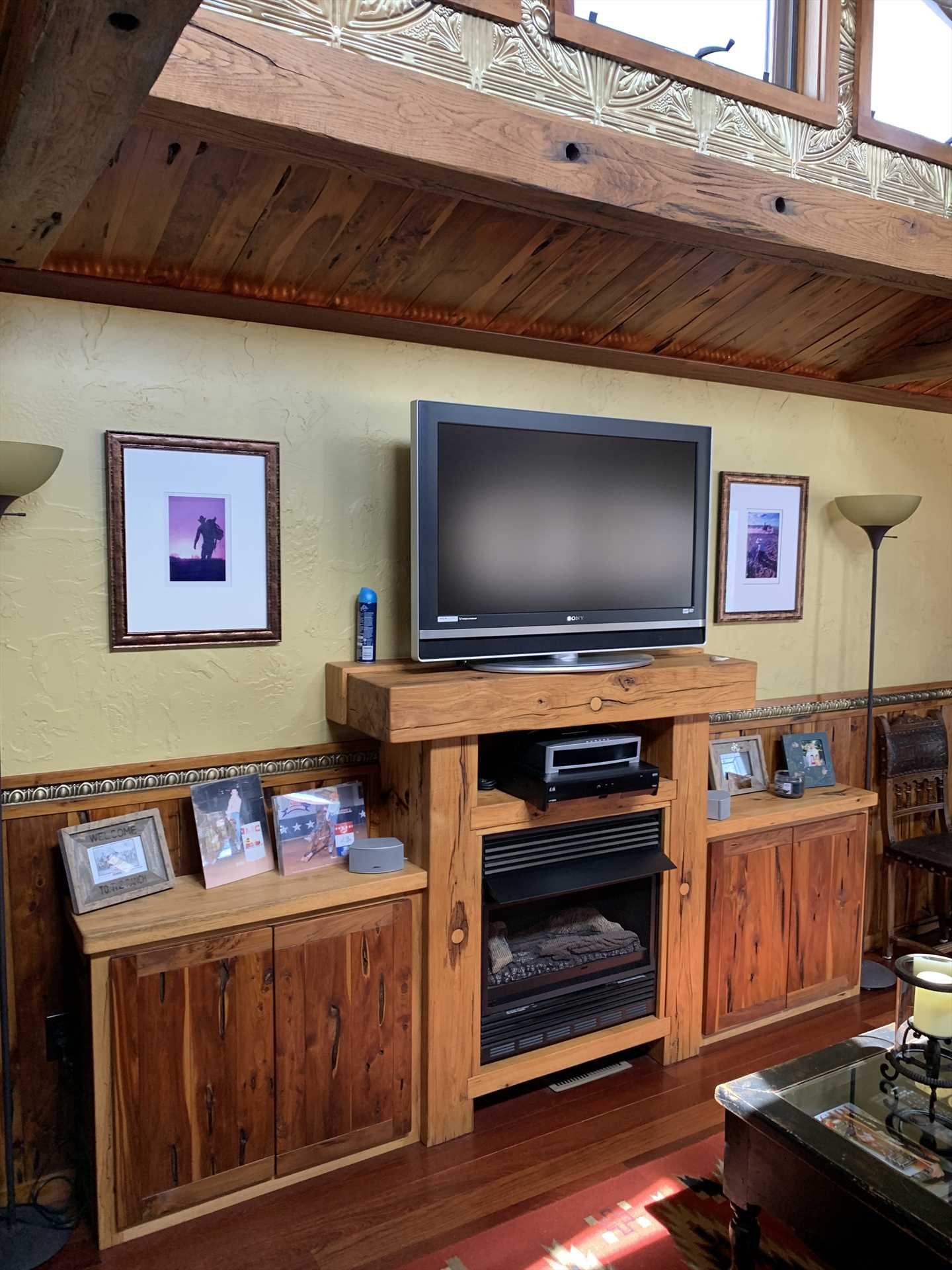 Cable and satellite TV and a DVD player are on hand for intimate movie nights, and there's also shared Wifi service on the ranch.