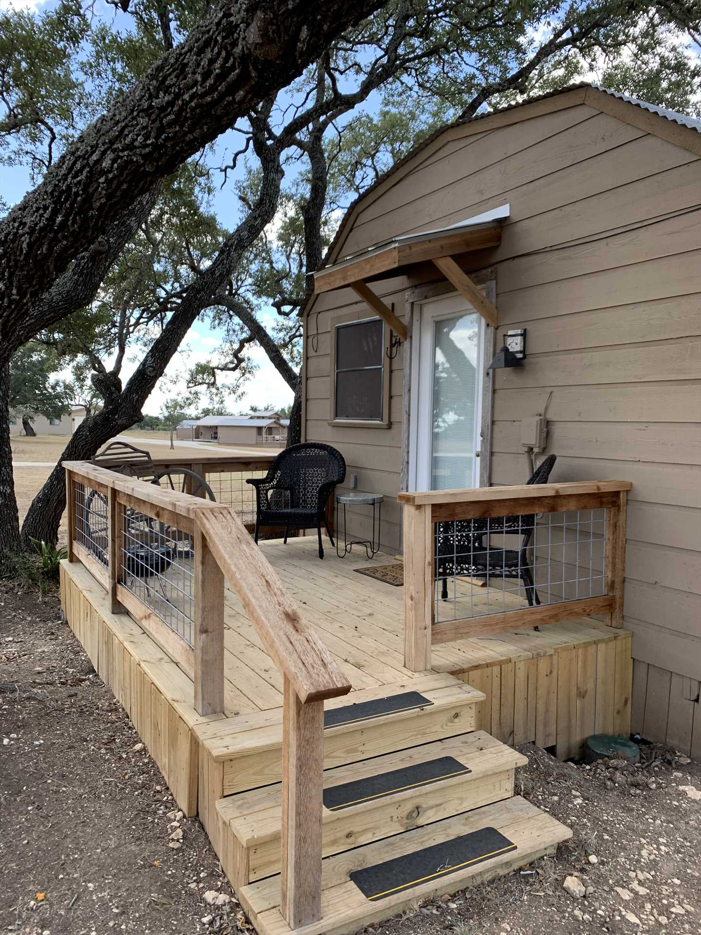 The cozy deck is shaded most of the day, and offers a peaceful spot for wildlife-watching and stargazing!