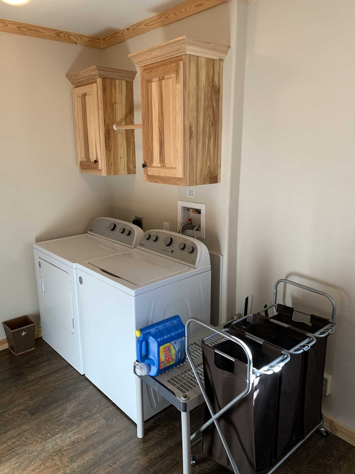 With up to 13 folks along on your holiday, you'll want to keep up with laundry! There's a utility room here for just that purpose.