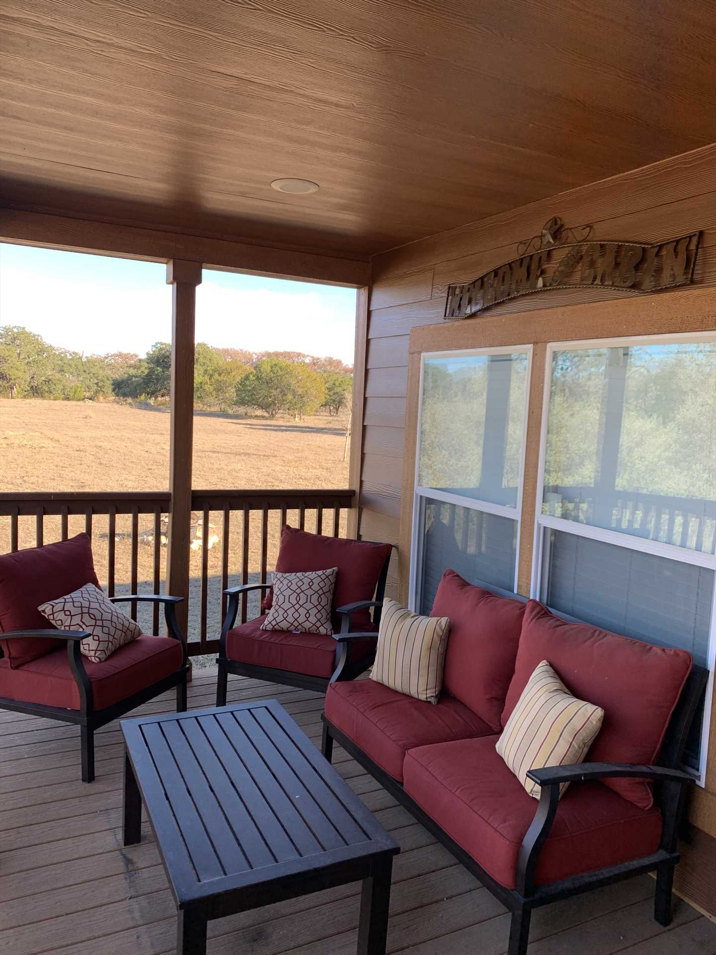 With plush deck furniture, a fire pit, and a grill, you'll feel just as pampered outside the Hideaway as you do indoors!