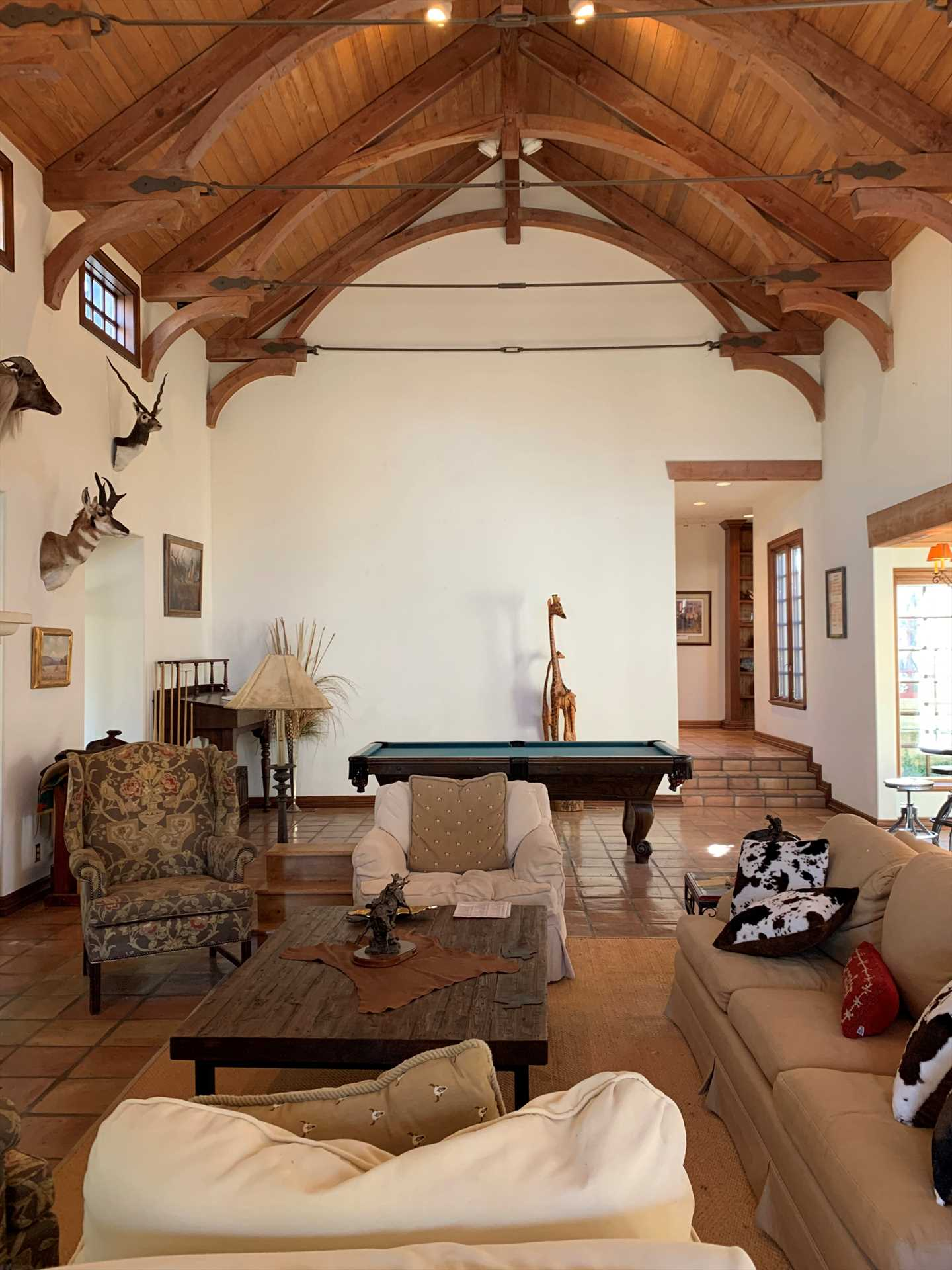 High ceilings and gorgeous woodwork and decor give the Homestead a stately and almost castle-like personality.