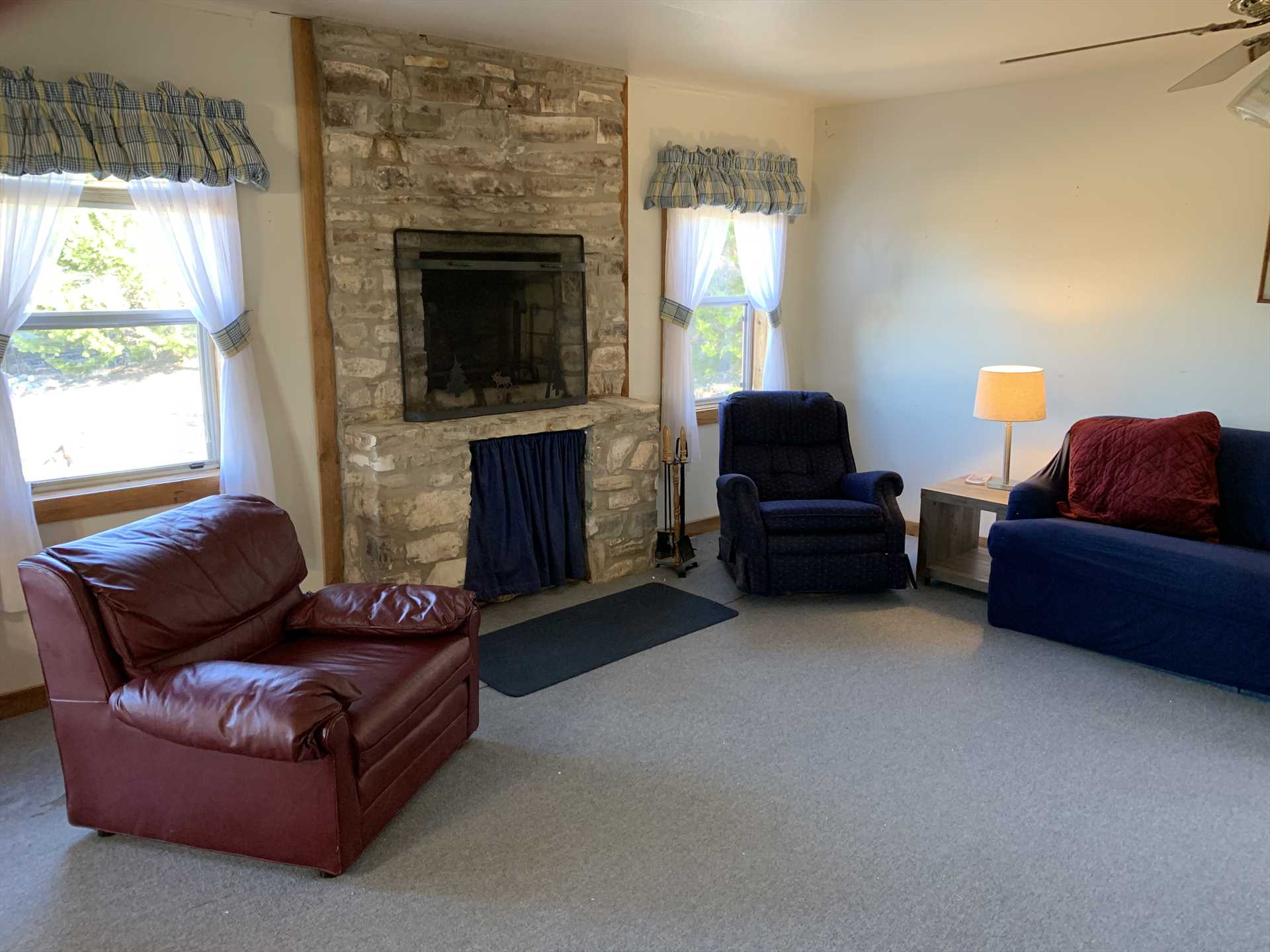 Kick back and savor some quality time with your fellow guests in the Hill House's living area.