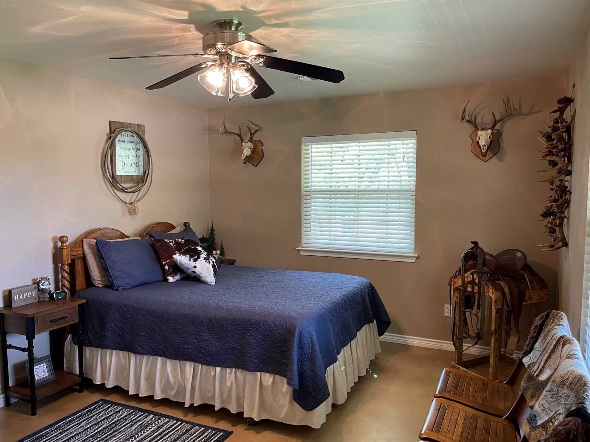 With central AC and heat, as well as speed-adjustable ceiling fans in every room, your comfort inside the home is assured.
