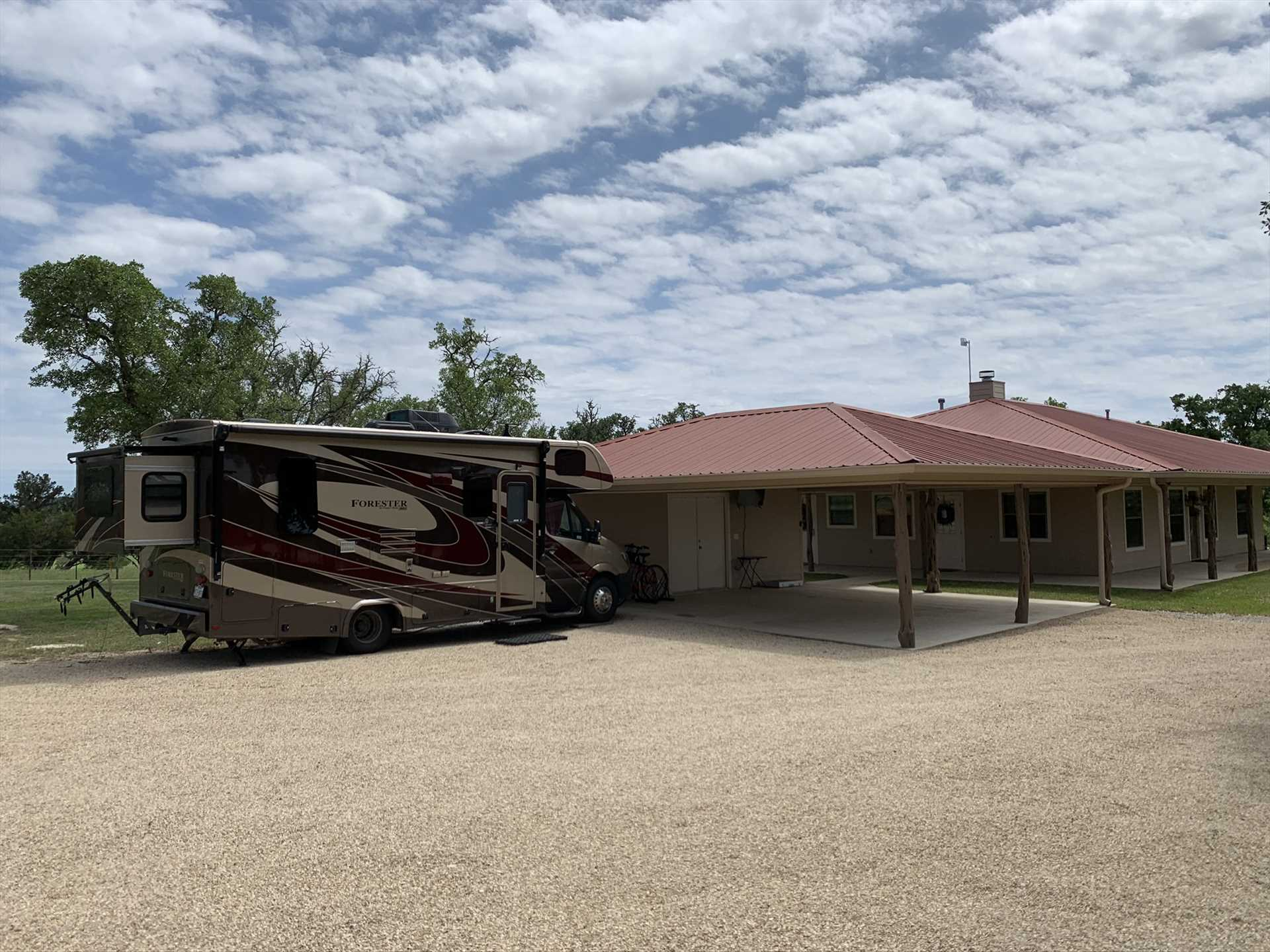 Bringing an RV along? Check with us when you book about hookups at Omie's Ranch Haus.