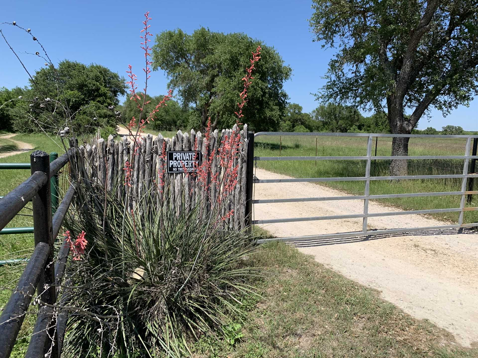 Inside these gates are over 230 acres of natural beauty for you and your family to explore!