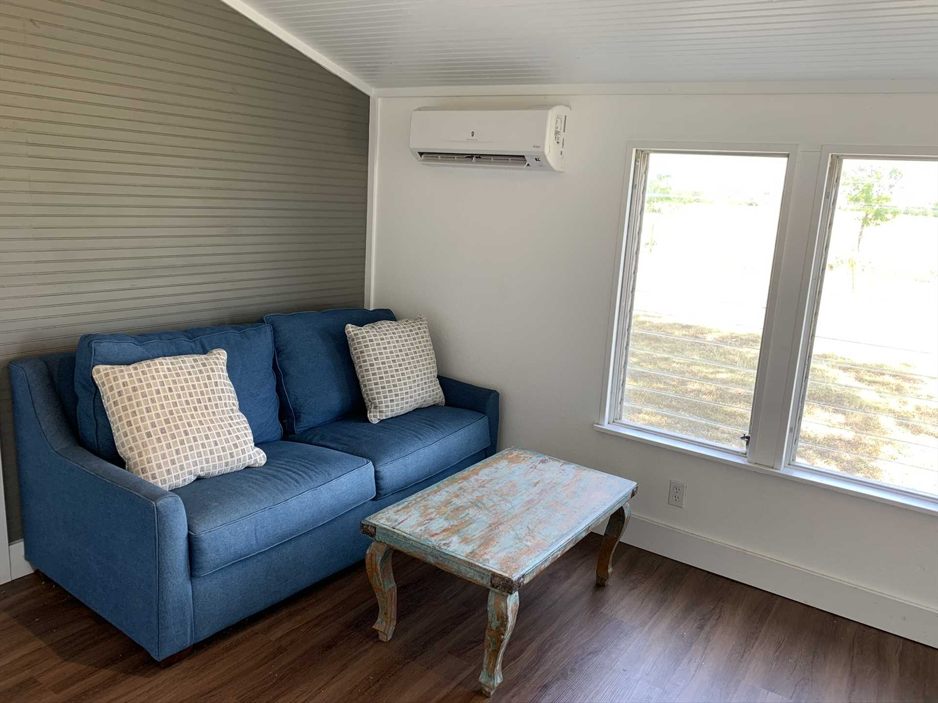 Kids are welcome in the Retreat, and there's a handy sofa sleeper in the sun room for naps!