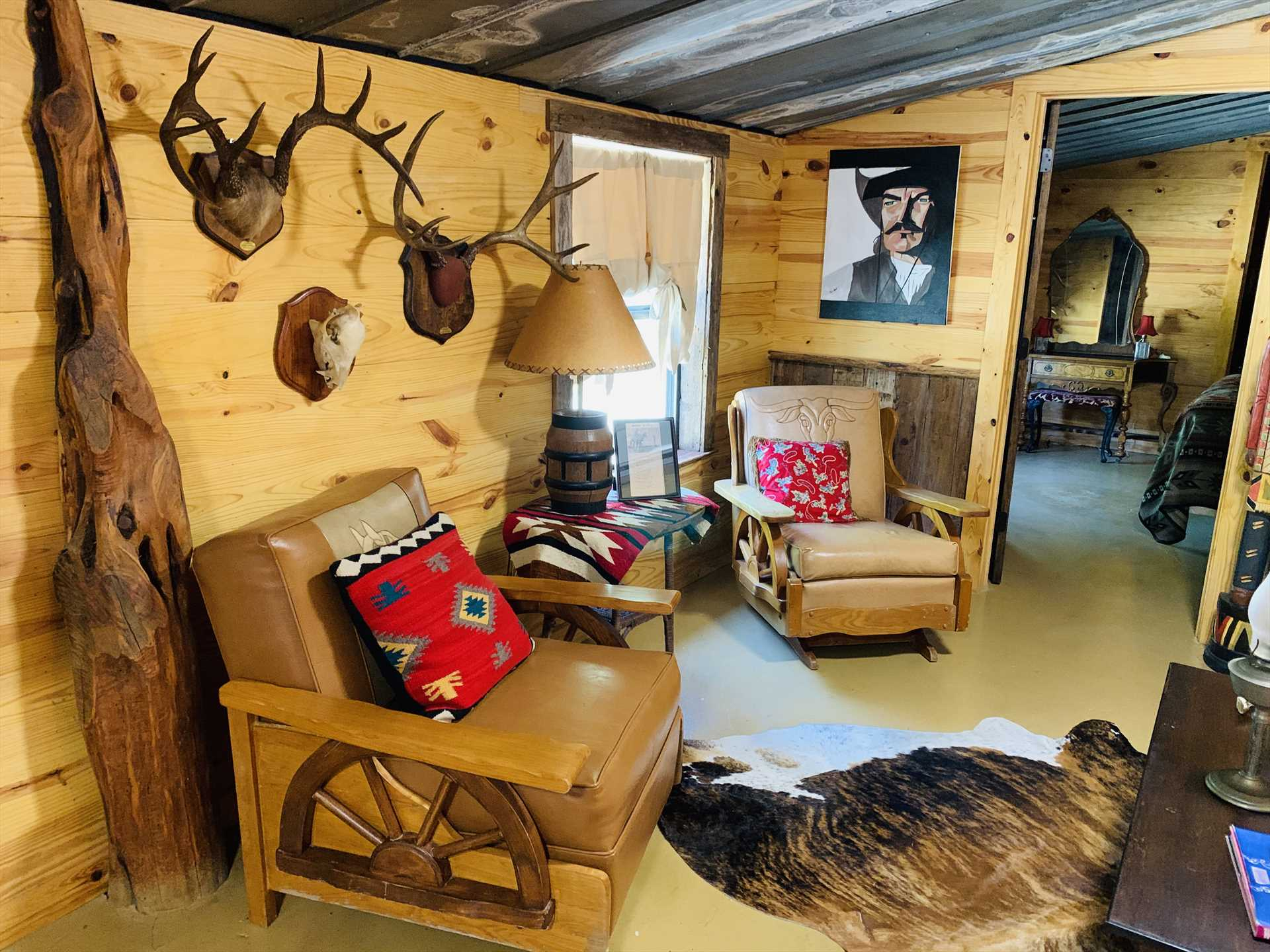 No need to ride the hot and dusty range to feel like an authentic cowboy or ranch hand-just come in and sit a spell!